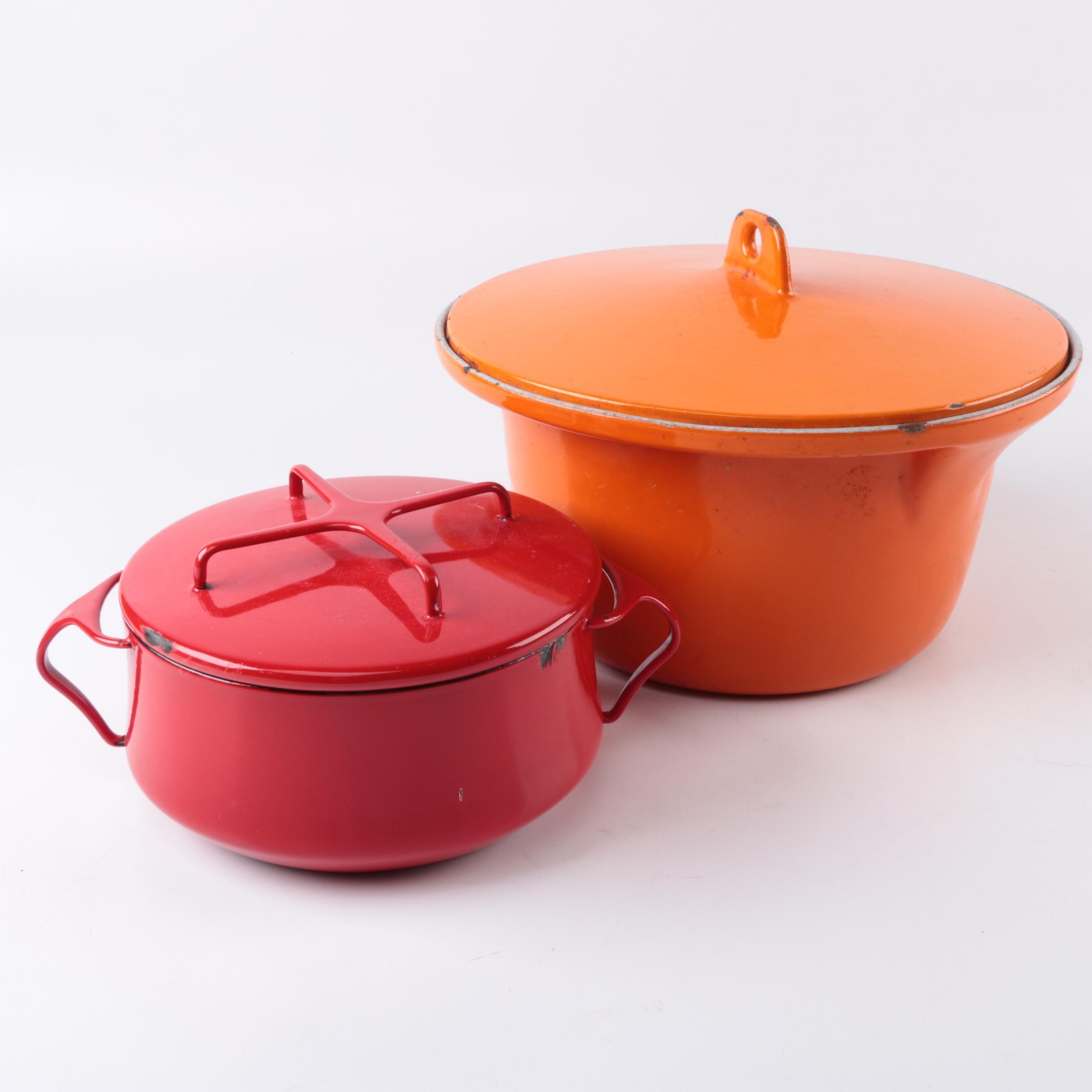 Enamel Cookware including Dansk Kobenstyle