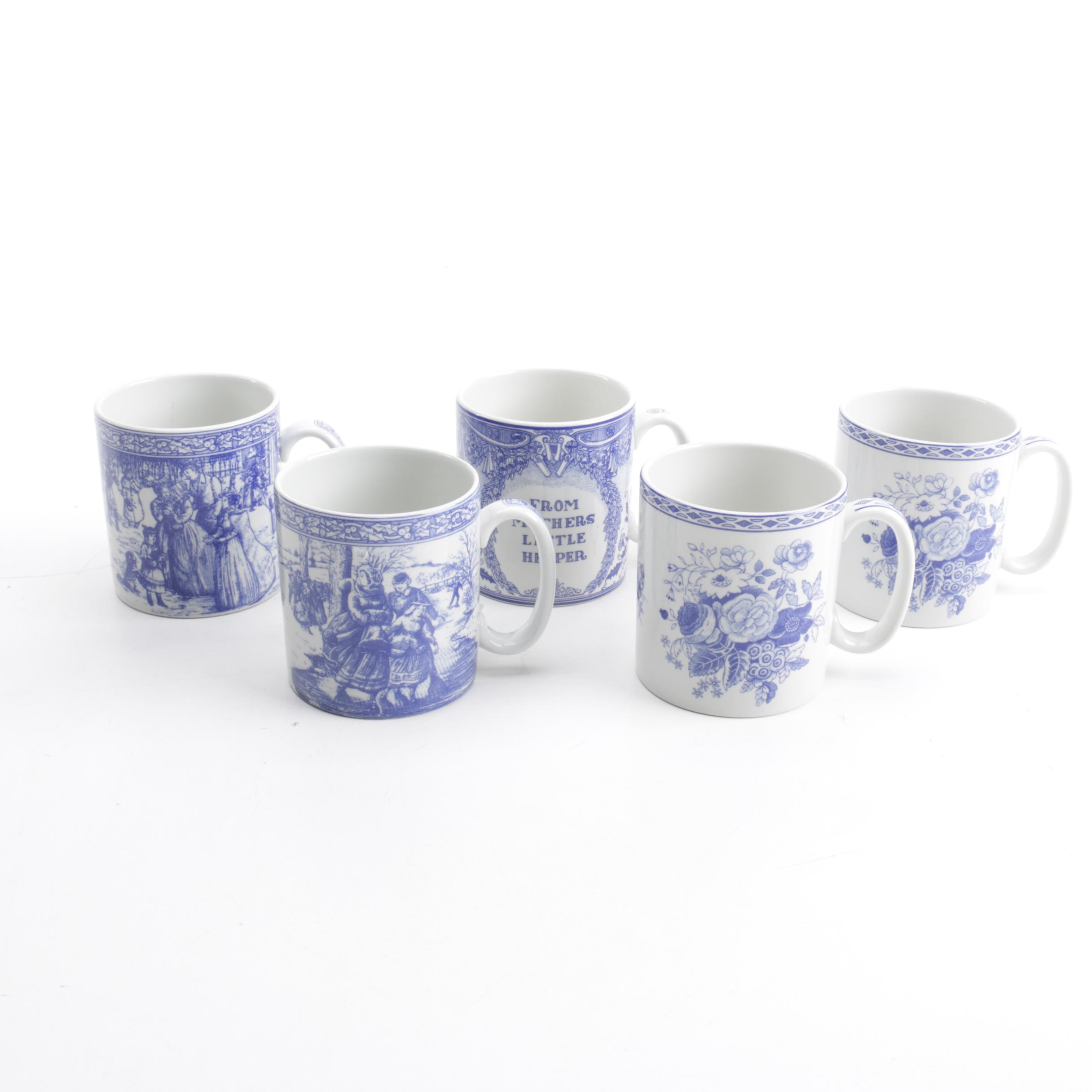 """Spode """"Blue Room Collection"""" Mugs"""