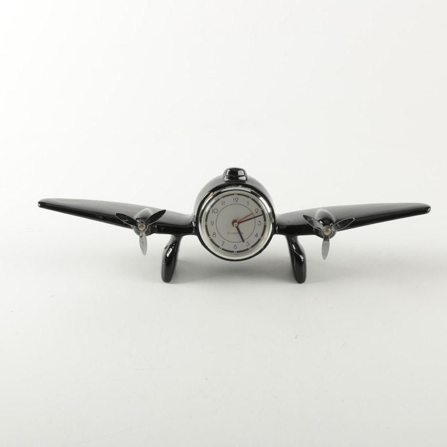 Vintage Airplane Desk Clock By Sarsaparilla