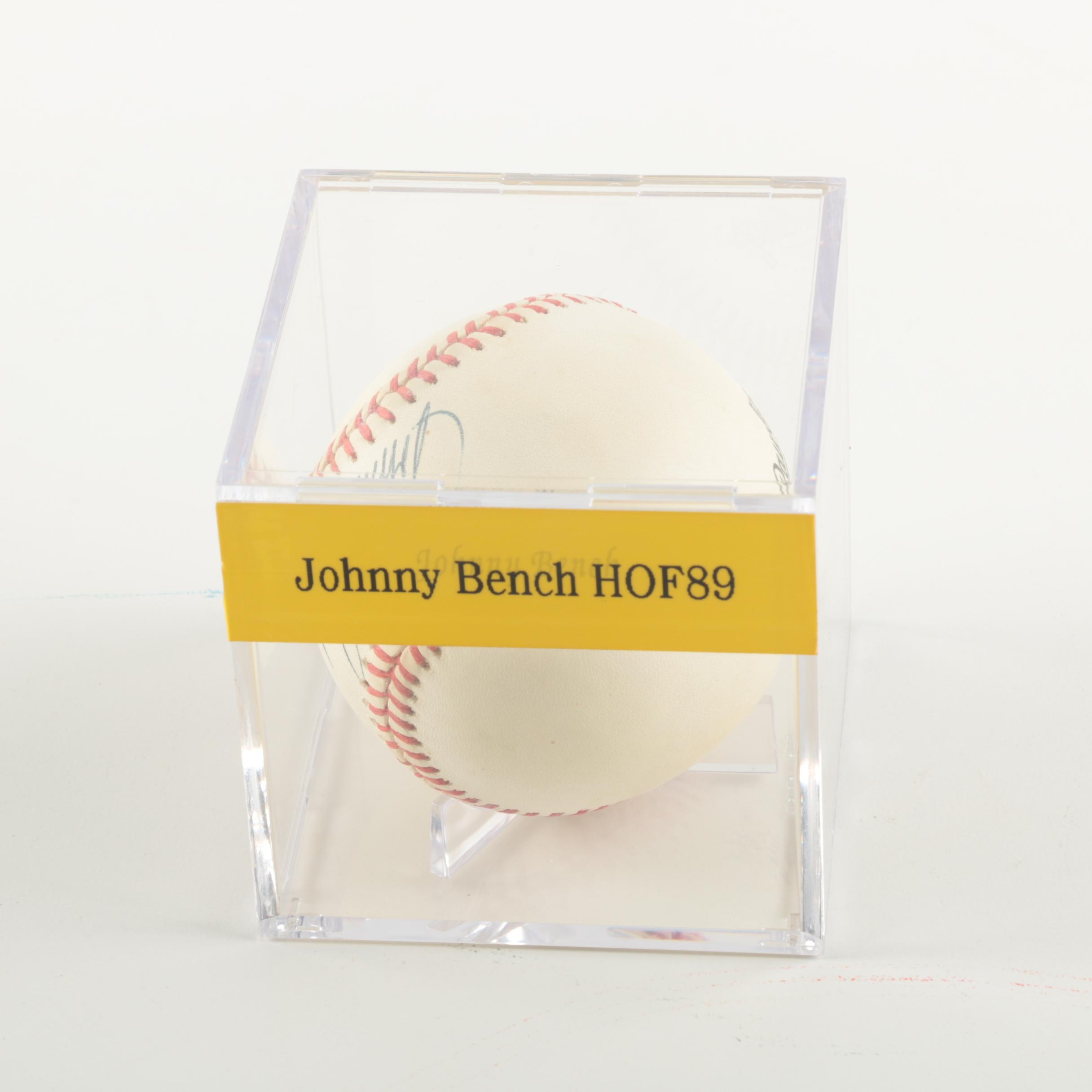 Johnny Bench Autographed Baseball Part - 21: Johnny Bench Autographed Baseball ...