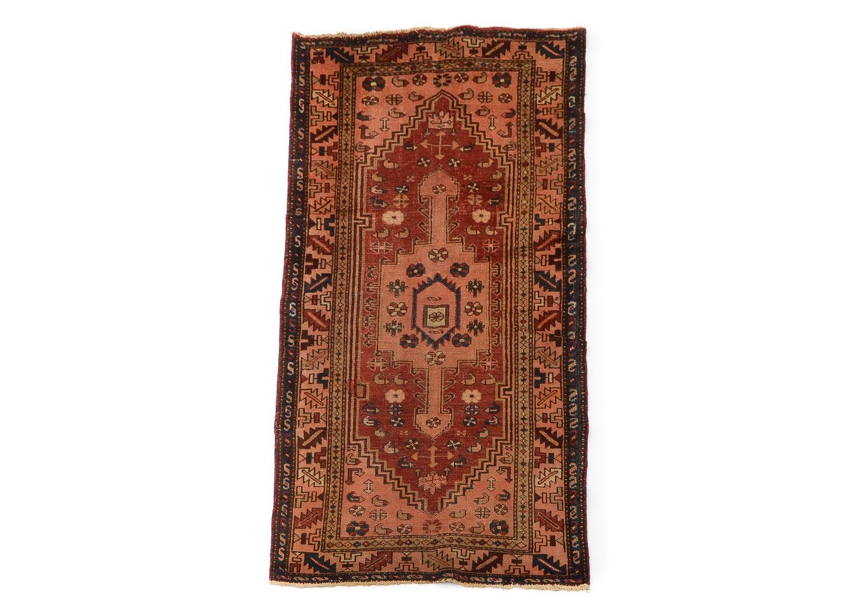 Semi-Antique Hand-Knotted Persian Kurdish Bijar Wool Area Rug