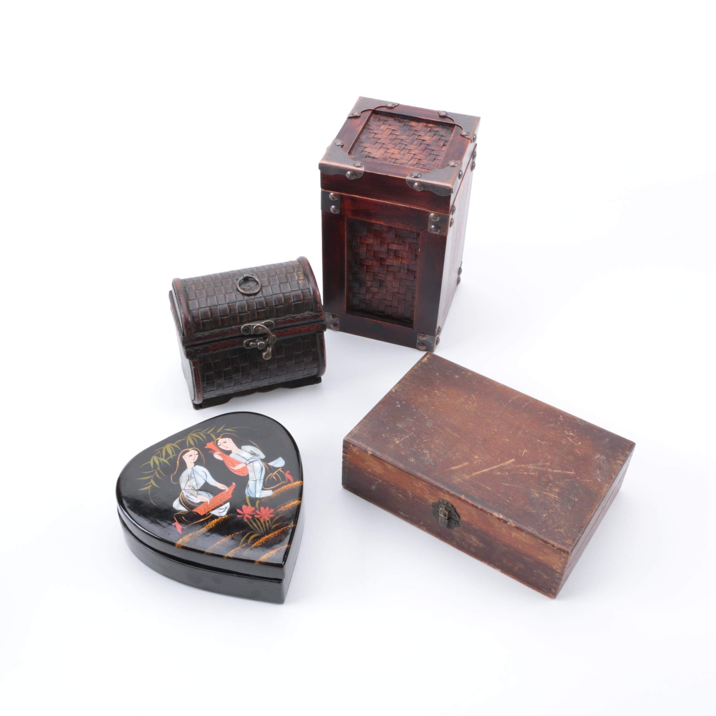 Four Trinket Boxes