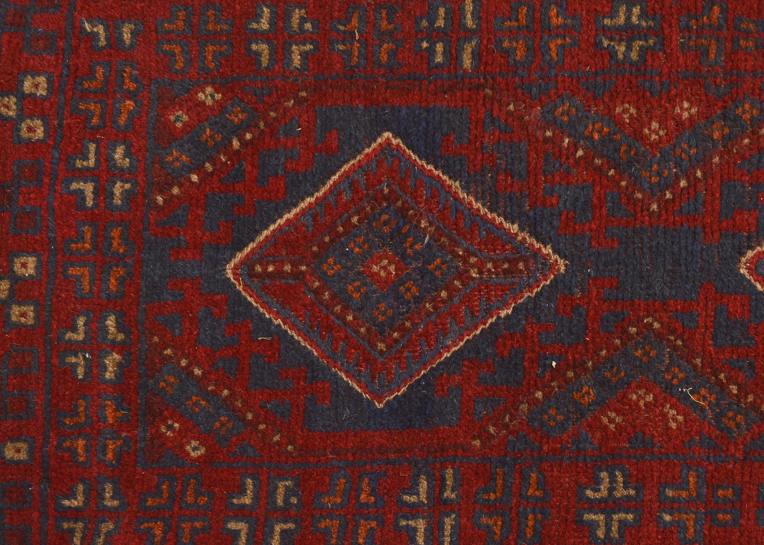 Hand-Knotted Baluch Runner Rug