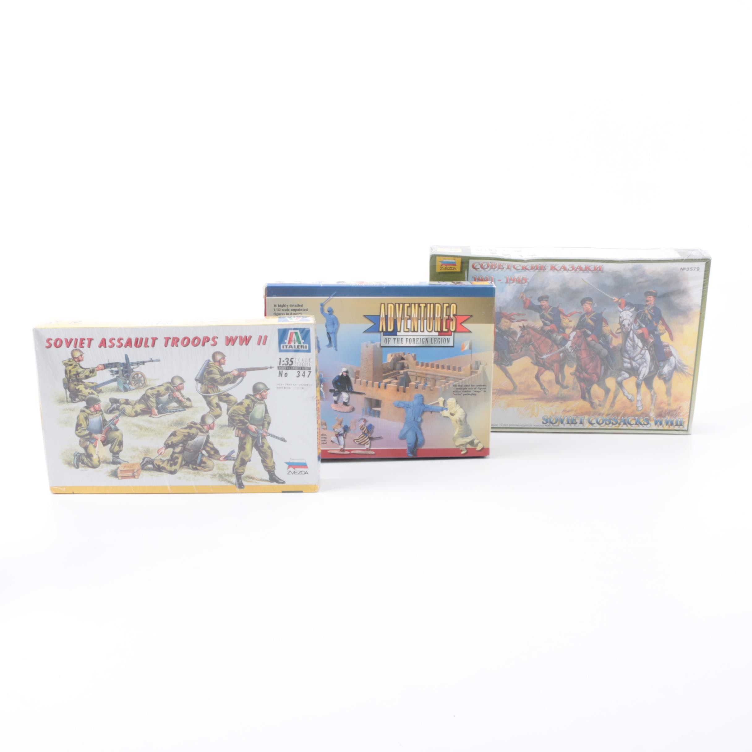 Assorted Soldier Model Kits