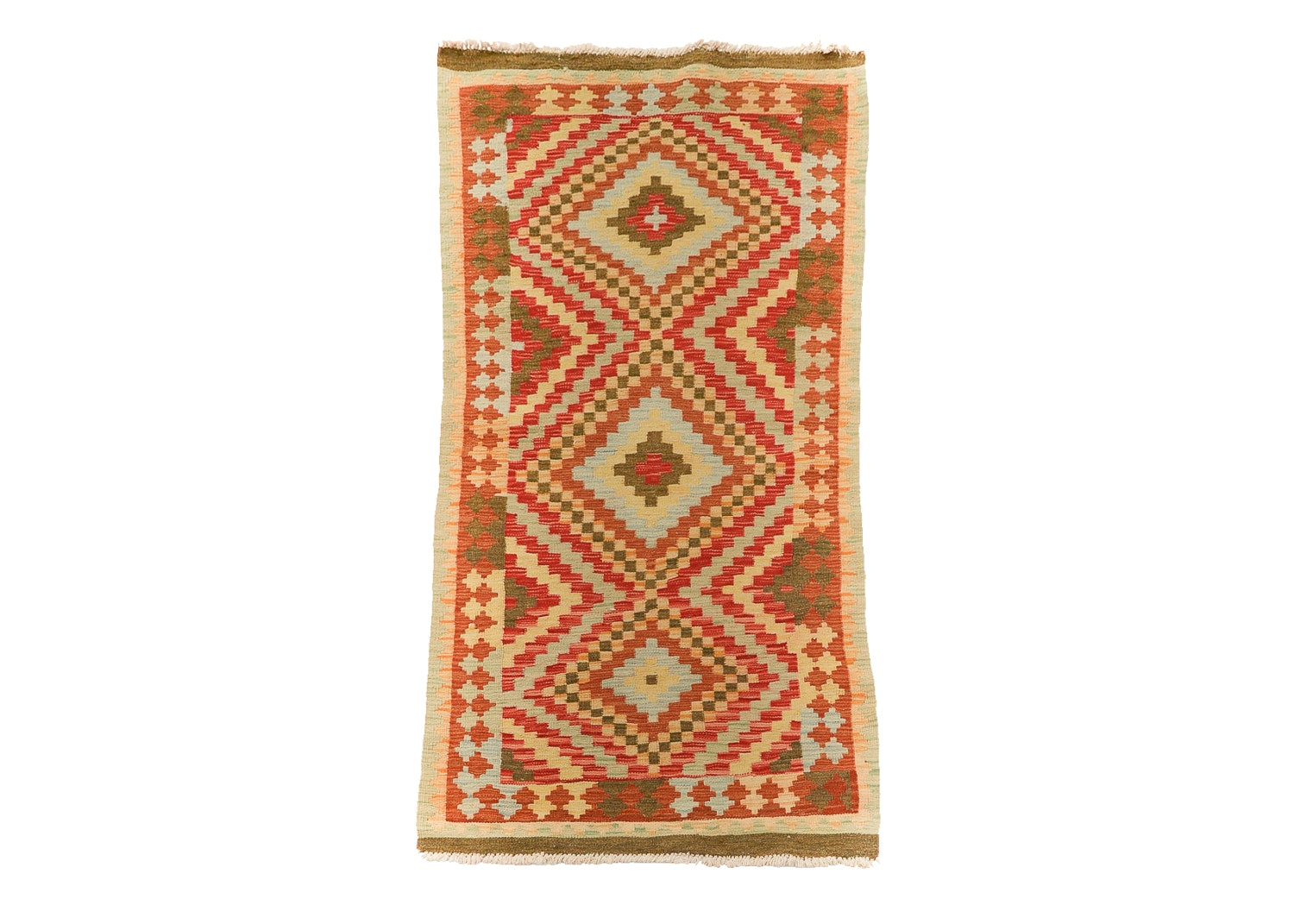 Handwoven Turkish Kashkoli Kilim Carpet Runner