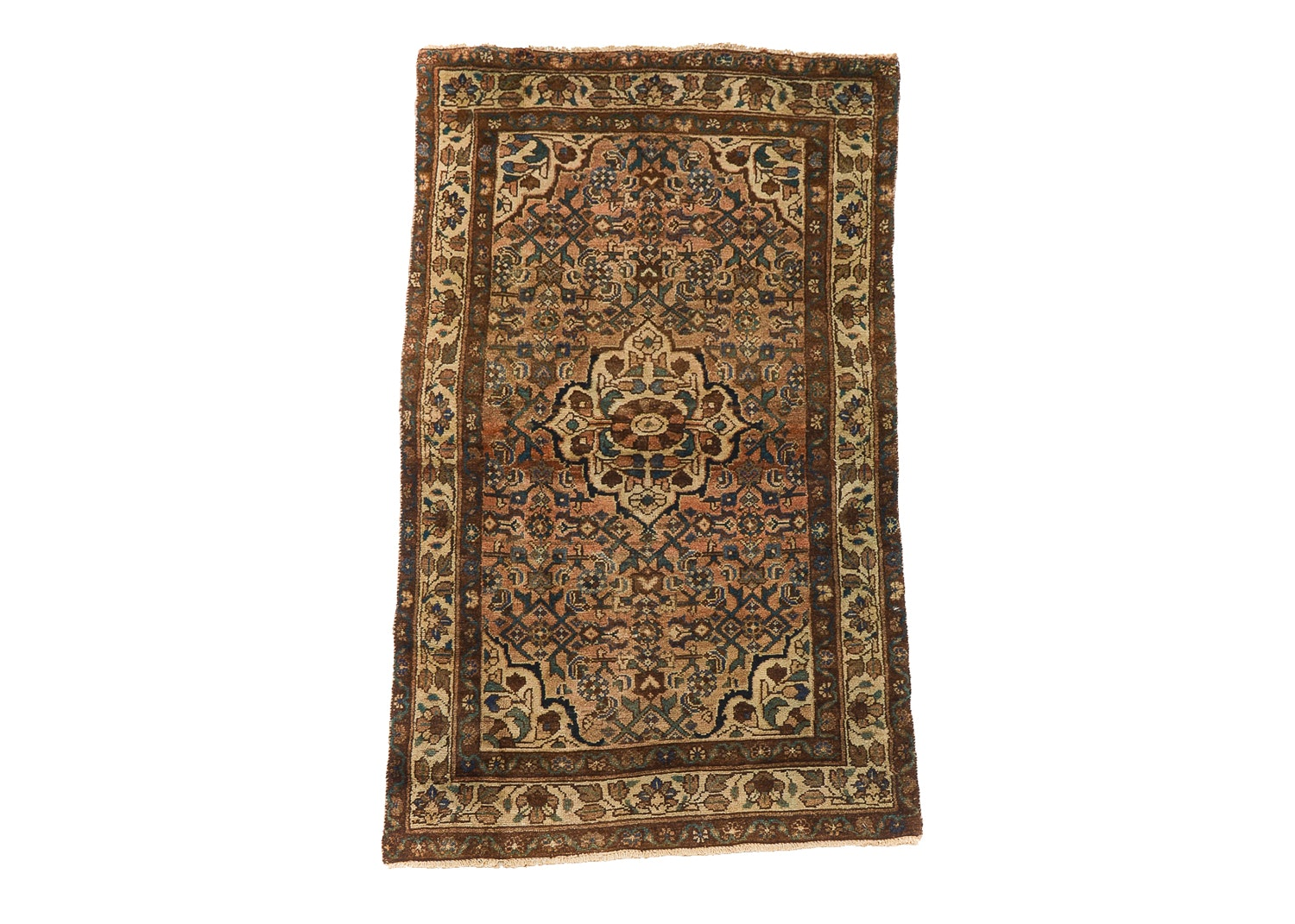 Hand-Knotted Persian Lilihan Wool Area Rug