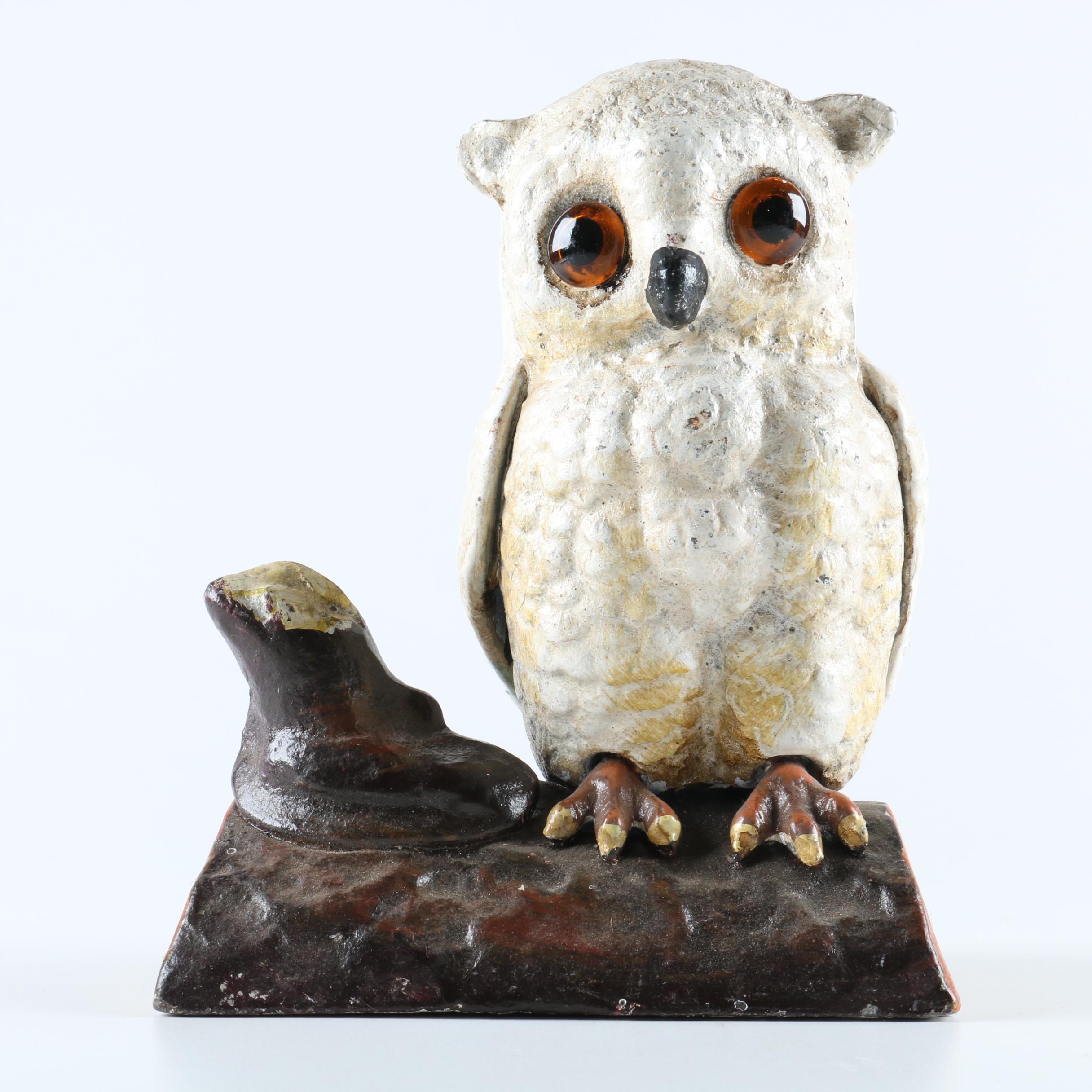 Cast Iron Owl Bank
