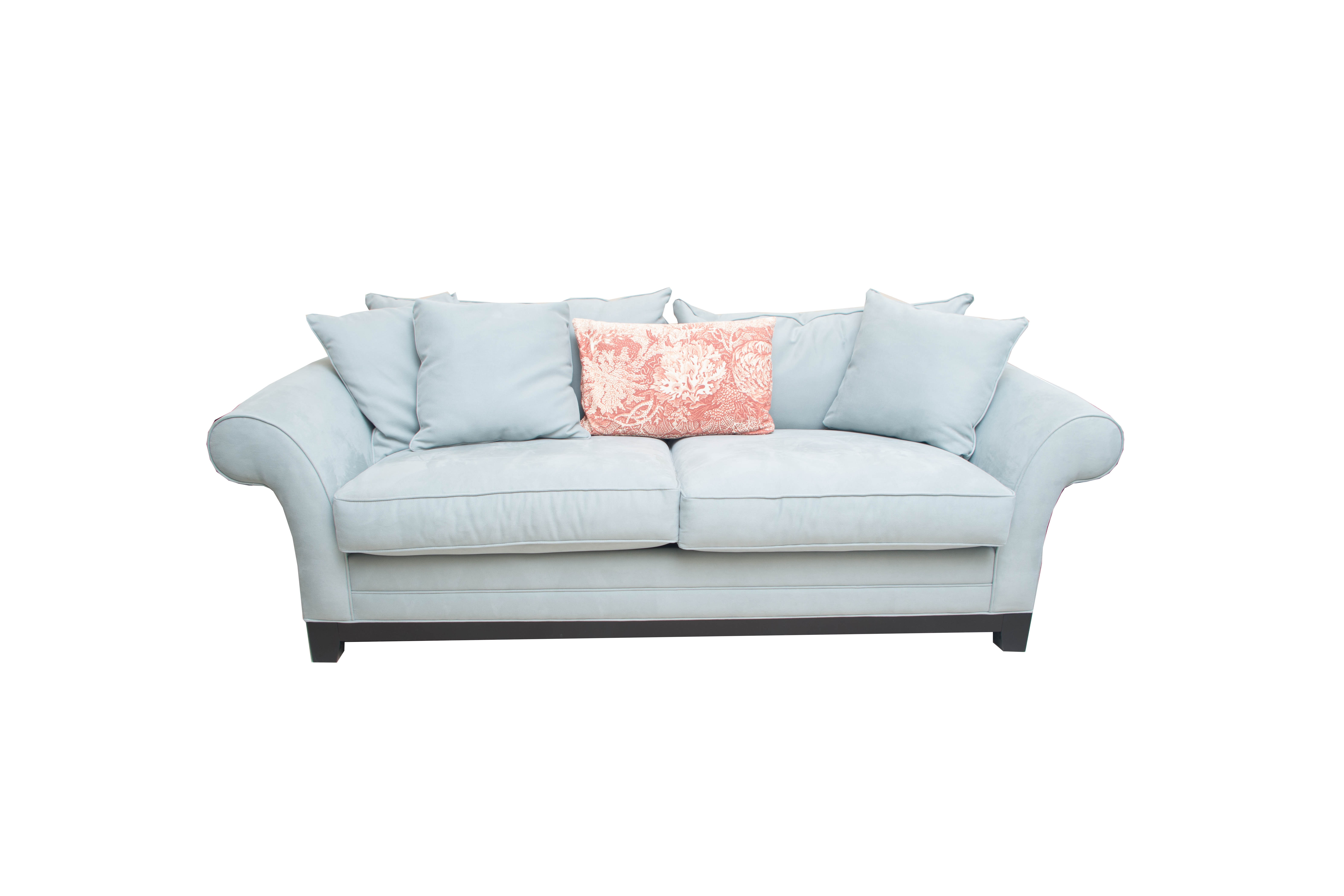Cindy Crawford Home Pale Blue Upholstered Sofa ...