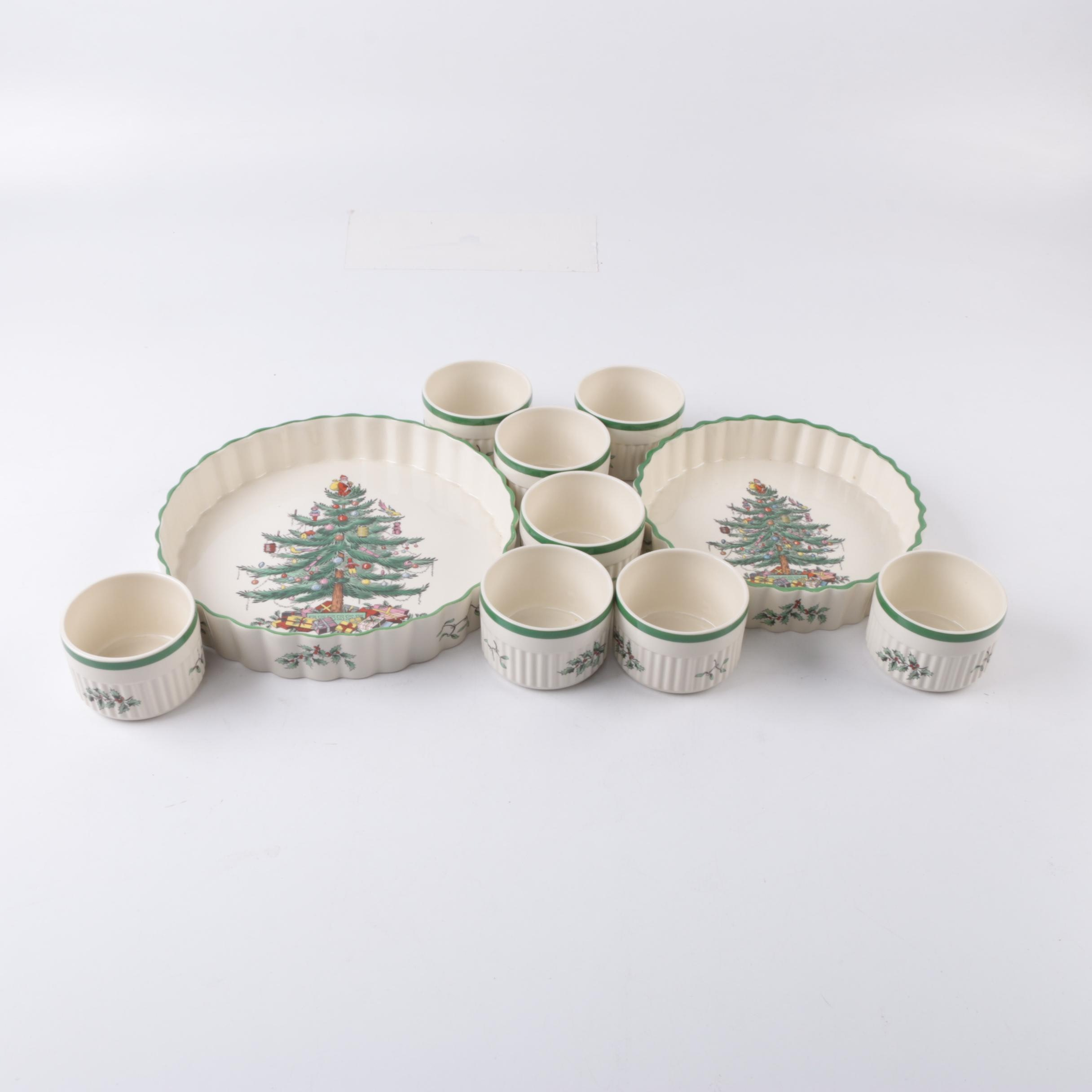 "Spode ""Christmas Tree"" Baking Dishes"