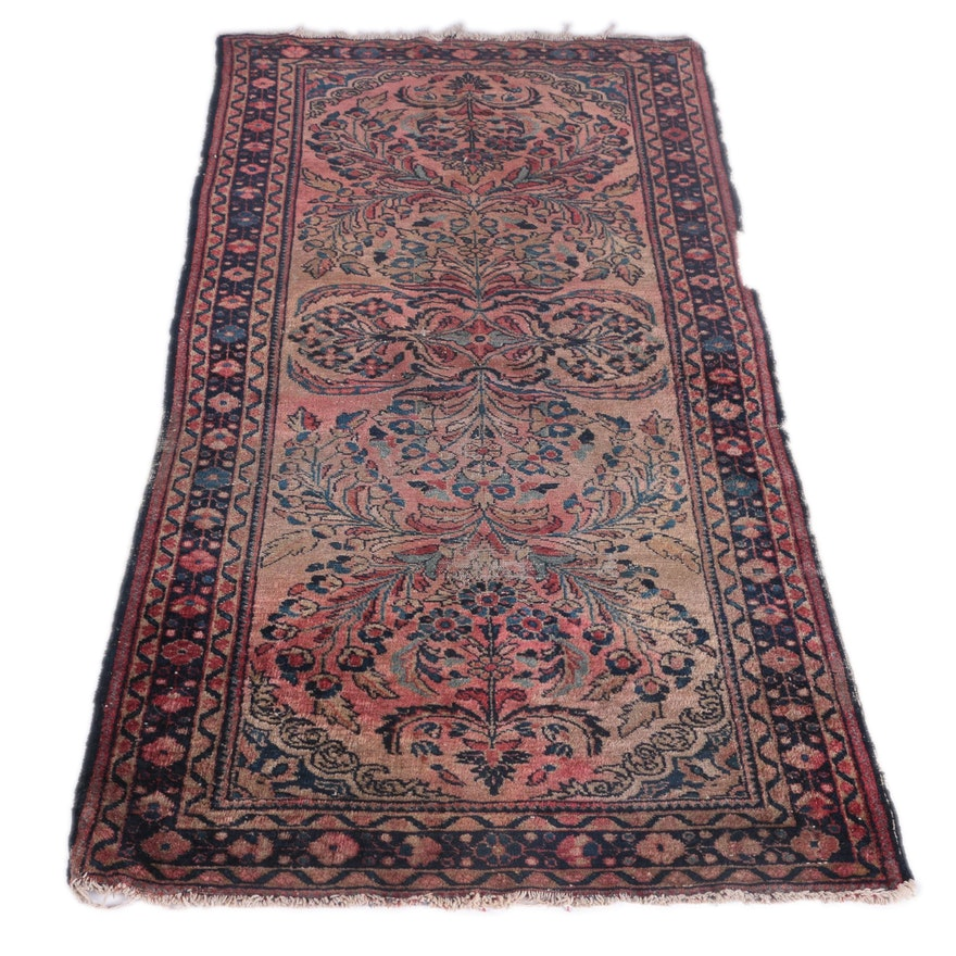 Hand Knotted Persian Wool Area Rug Ebth: Hand-Knotted Persian Mehriban Carpet Runner : EBTH