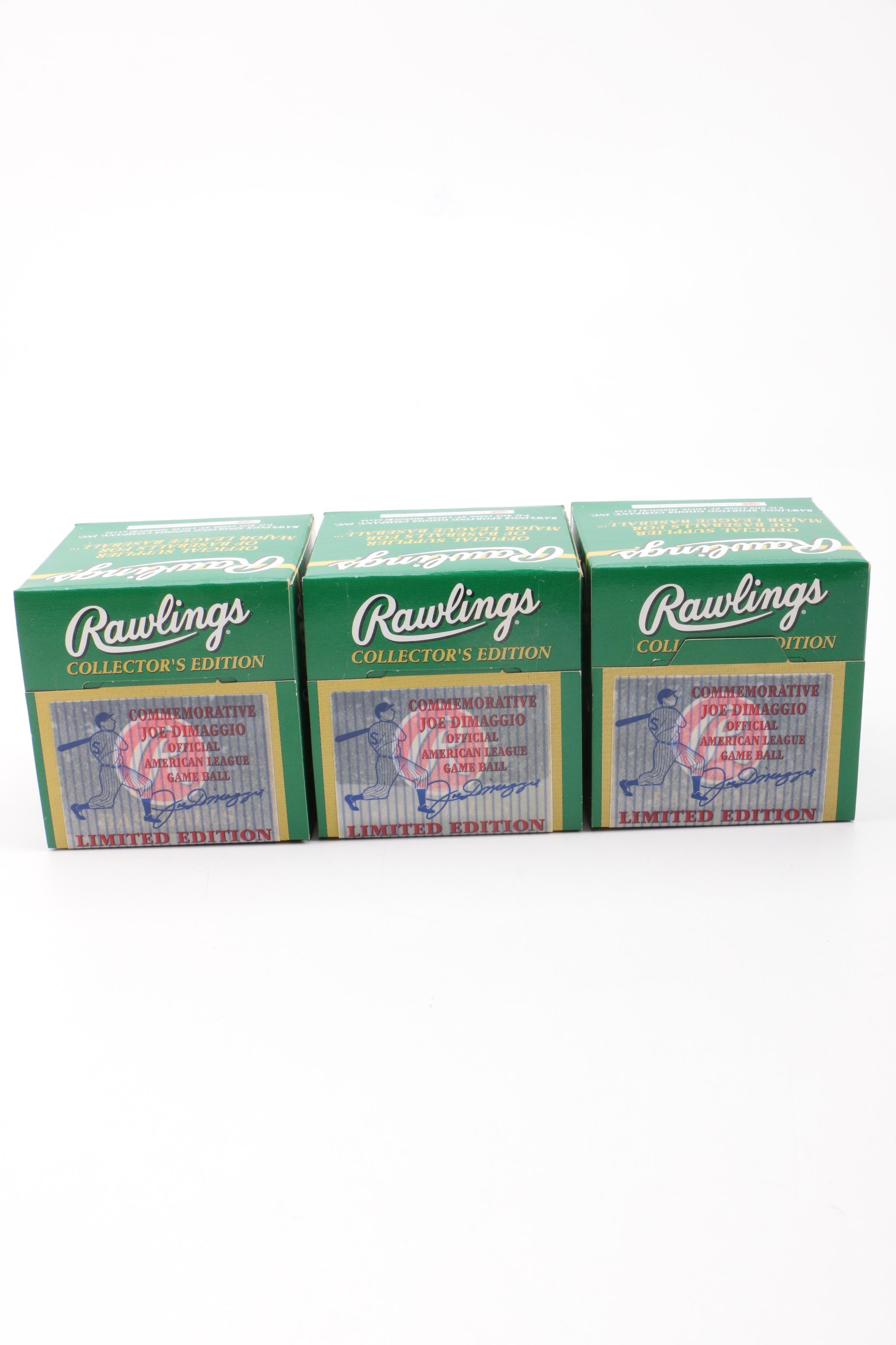 Rawlings Collector's Edition Joe DiMaggio Baseballs