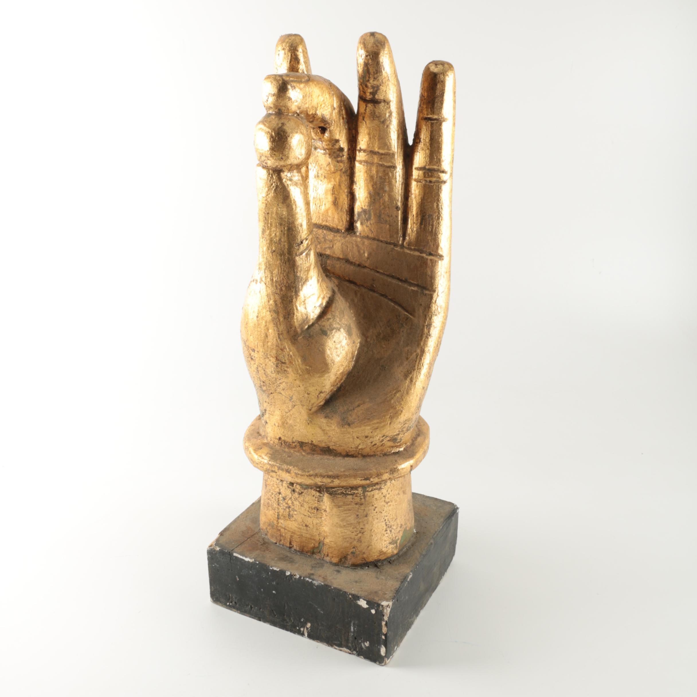 Wooden Buddha Hand