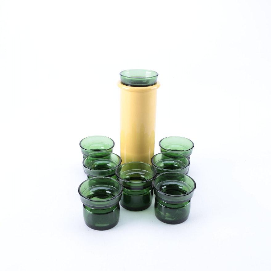 Dansk Cylinder Vase With Danish Modern Glass Candle Holders Ebth
