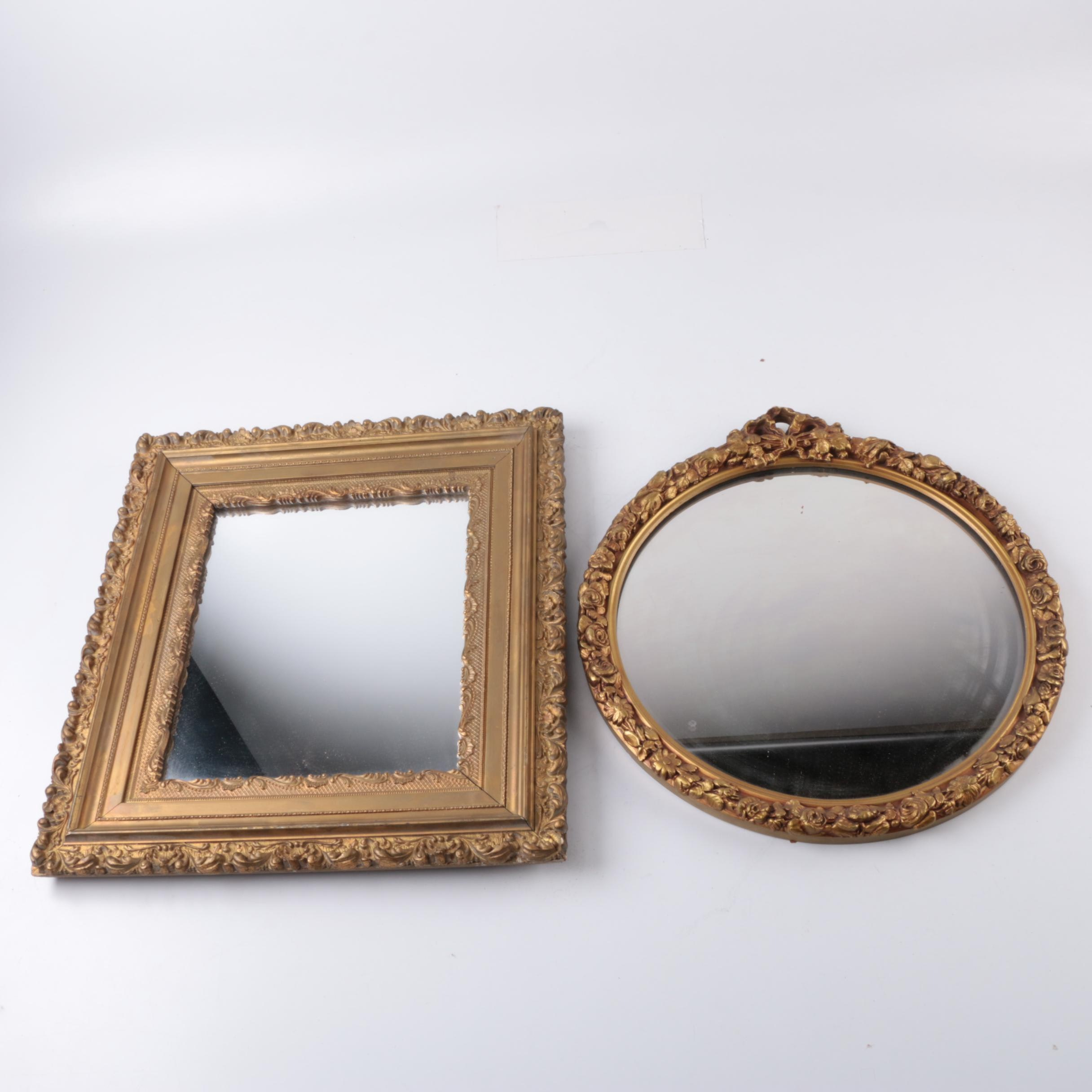 Gold Tone Framed Mirrors