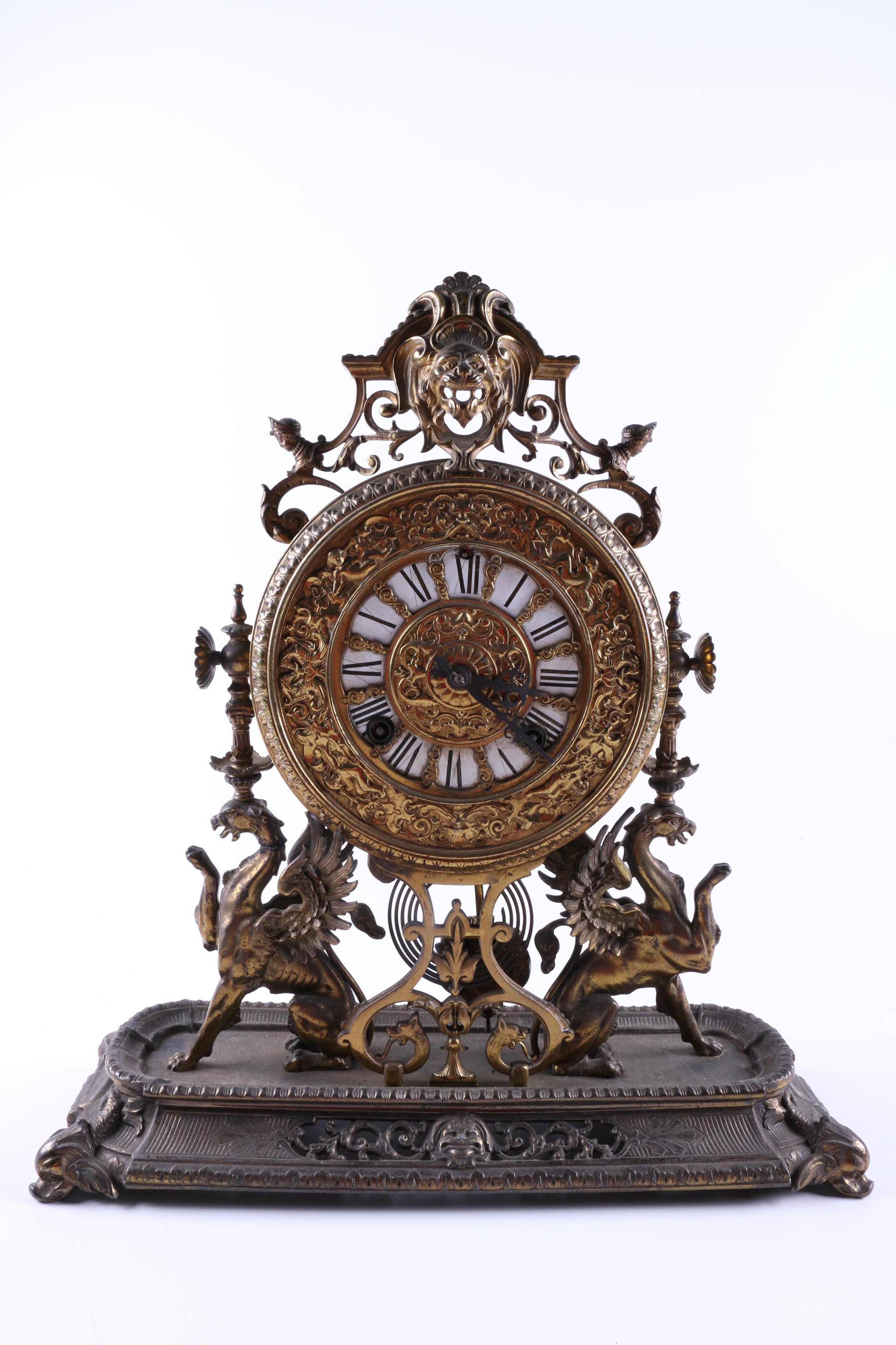 Antique American Ormolu Mantel Clock