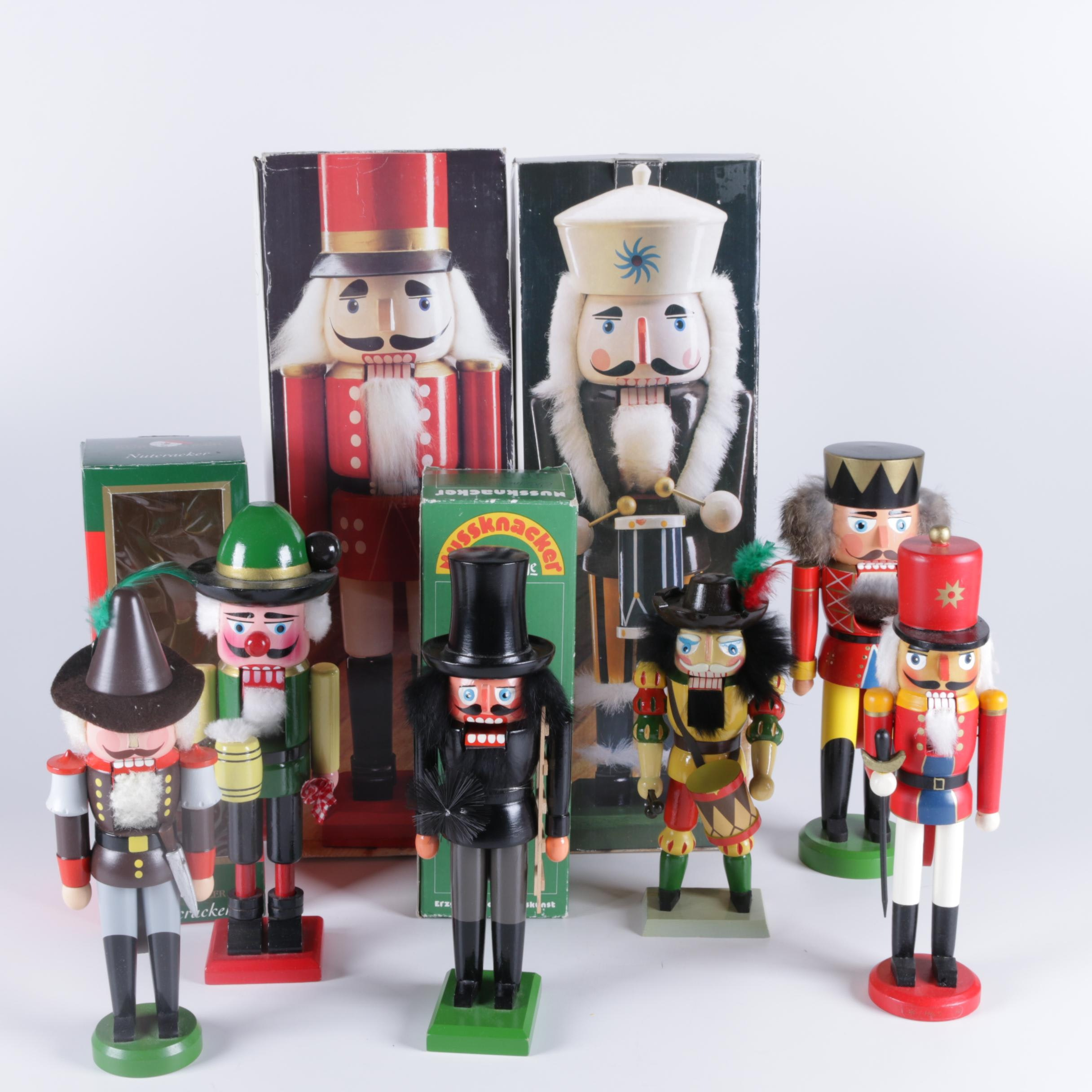 Collection of Wooden Nutcrackers