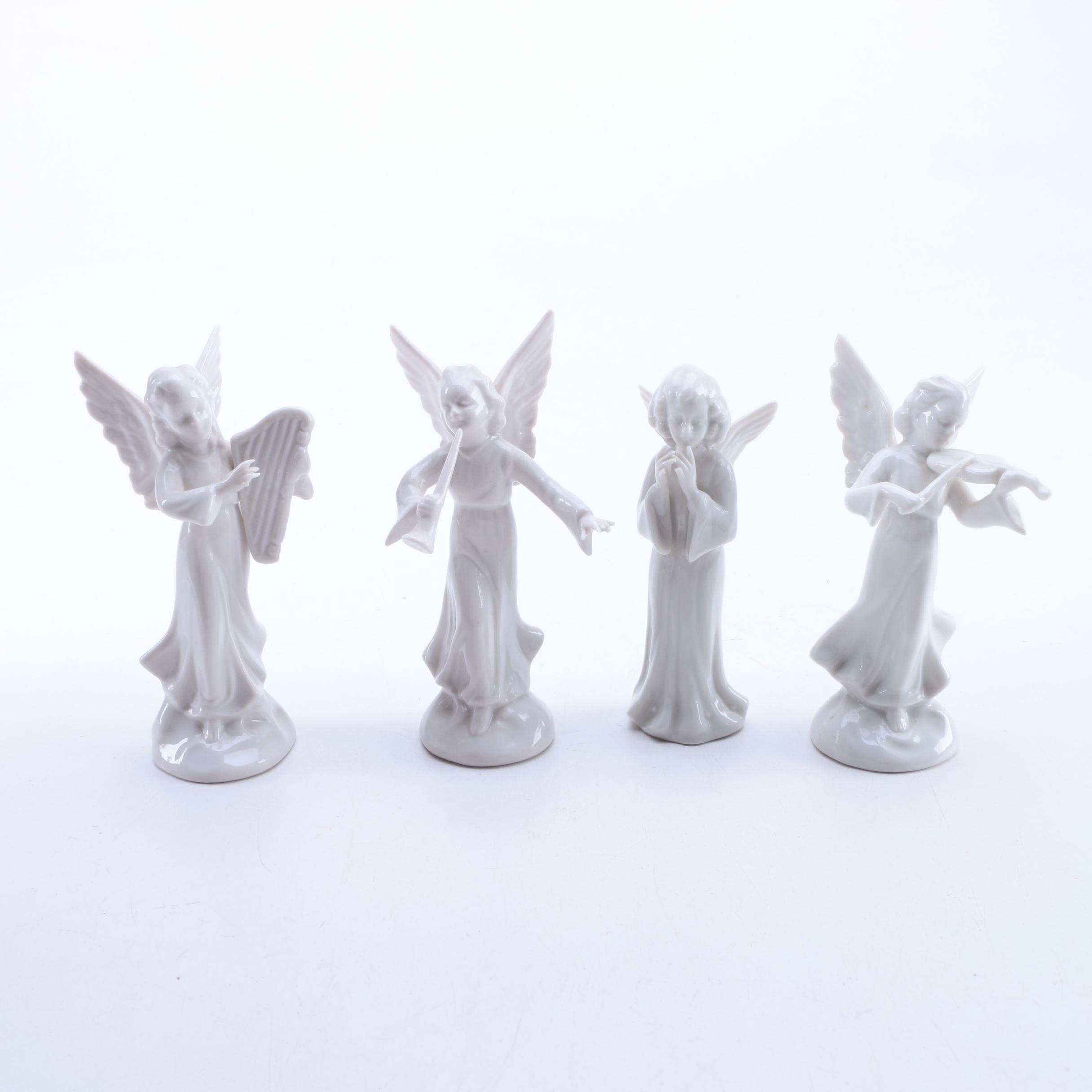 Vintage R&E Pech Porzellanmanufaktur  Porcelain Angel Figurines