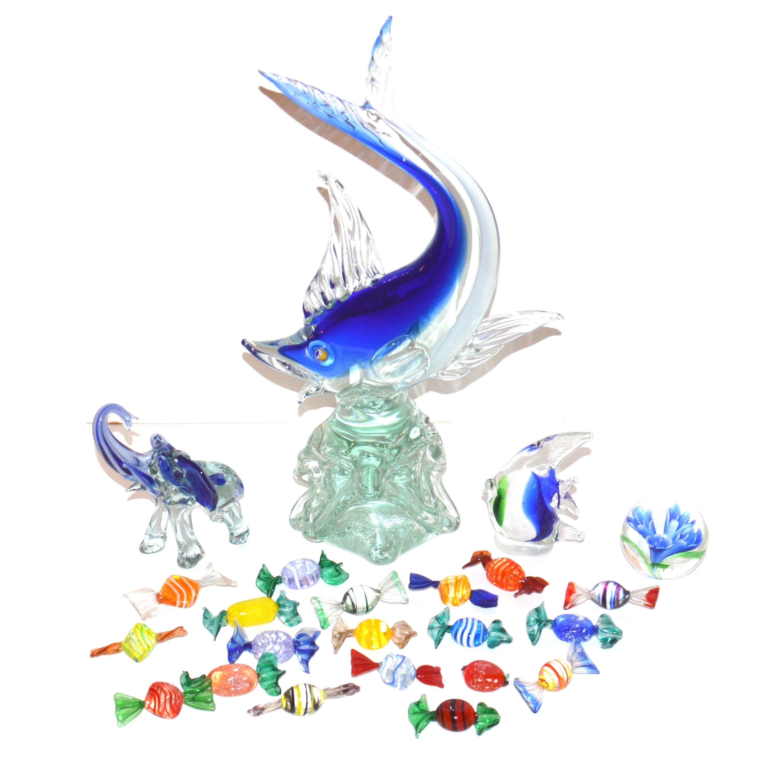 Assortment of Sculpted Glass Art