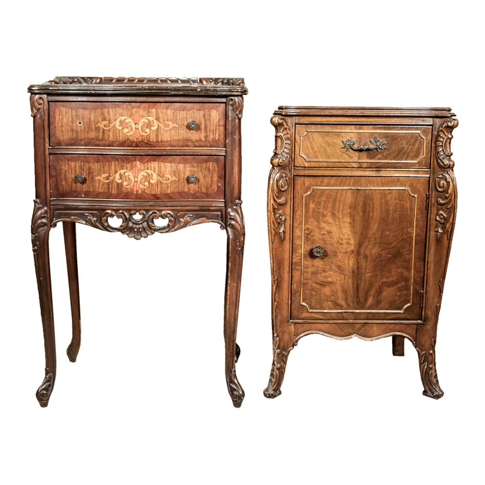Two Vintage Louis XV Style Side Tables