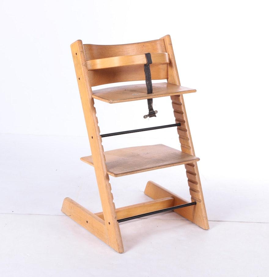 Stokke high chair blue - Vintage Stokke Tripp Trapp Baby Highchair