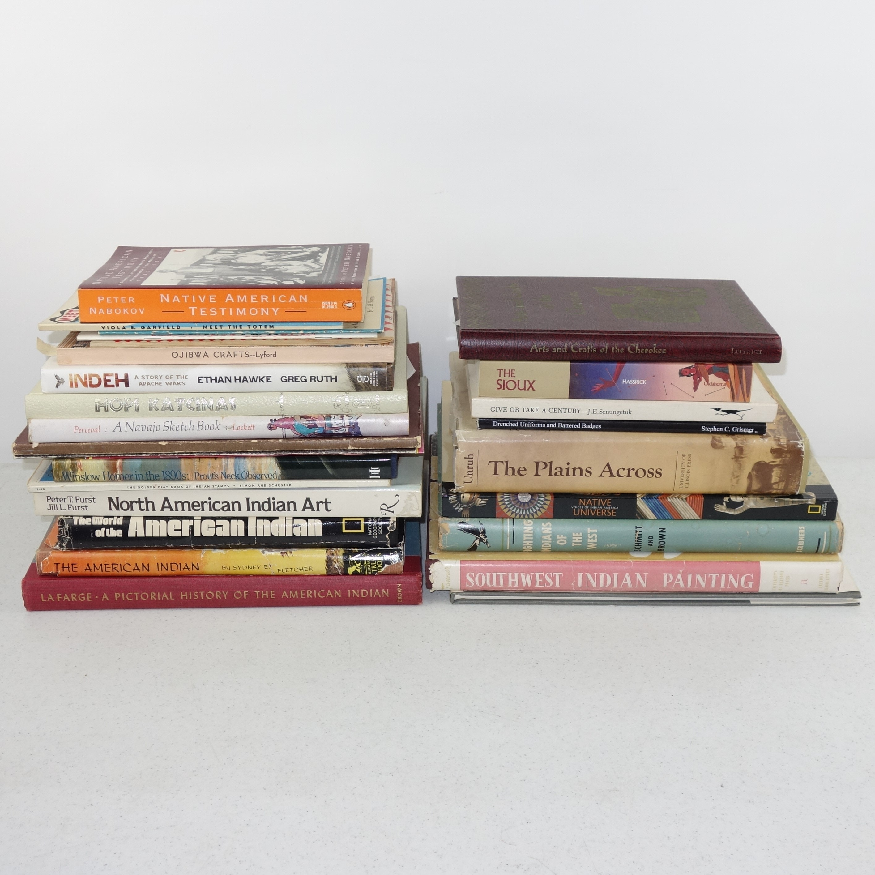 Vintage Books on Native American Culture and Art