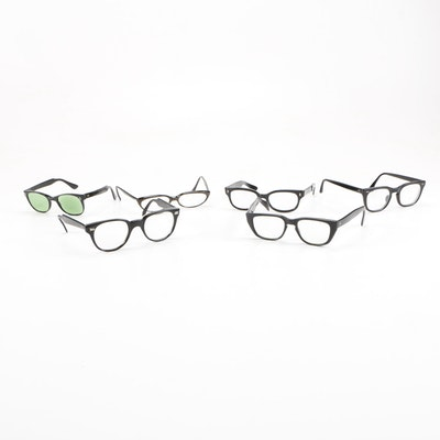 92e2bc36a62 Vintage Horn Rimmed Glasses Including Bausch   Lomb