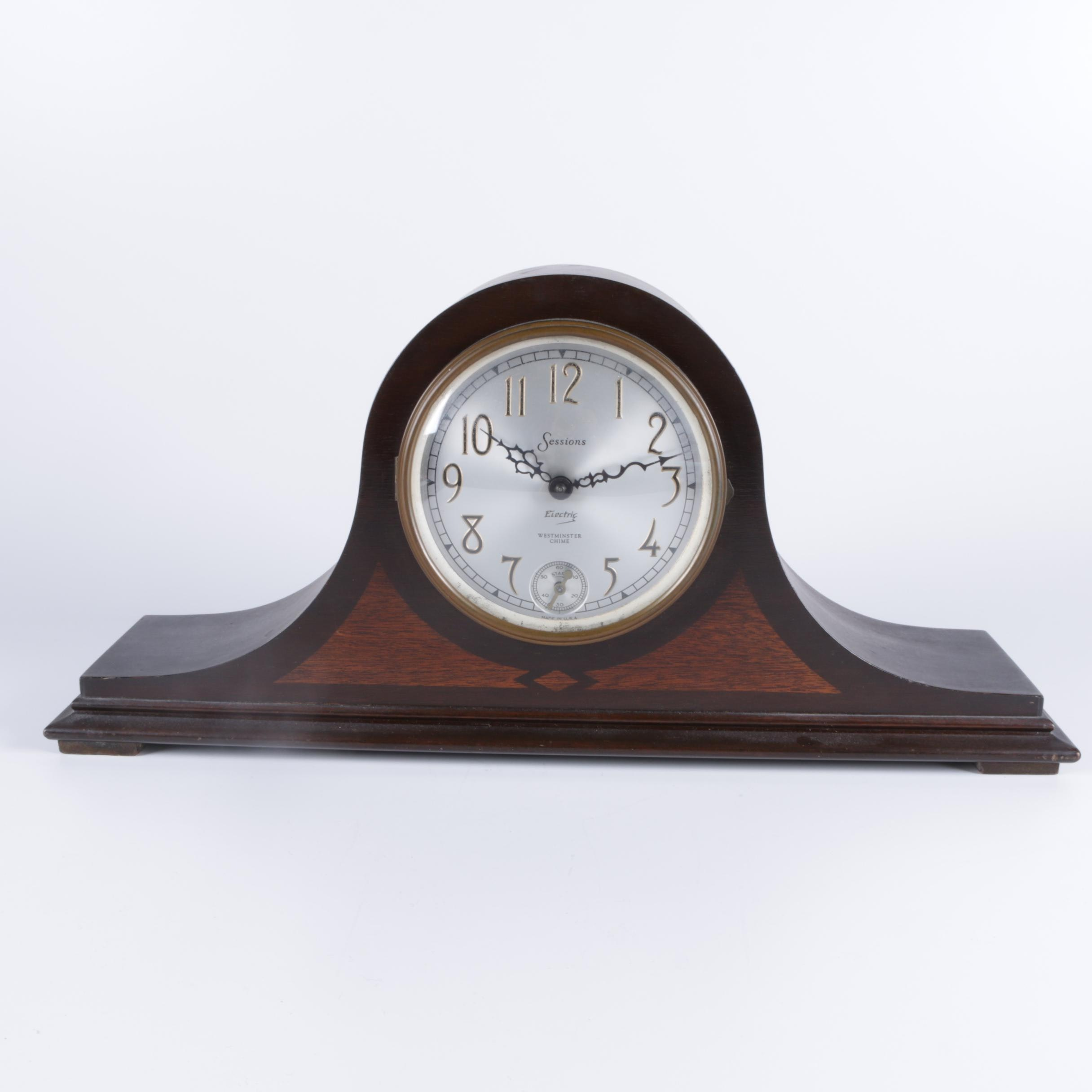 Vintage Sessions Electric Tambour Mantel Clock