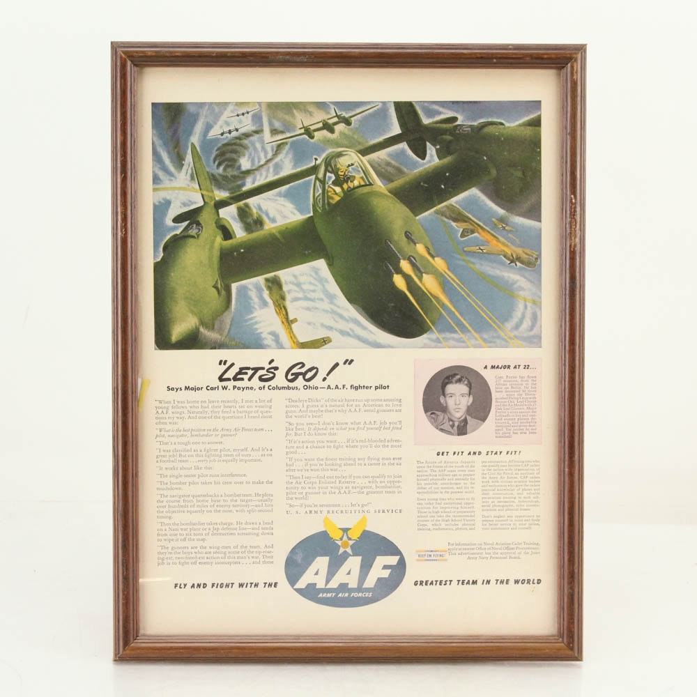 WWII Army Air Forces Advertisement