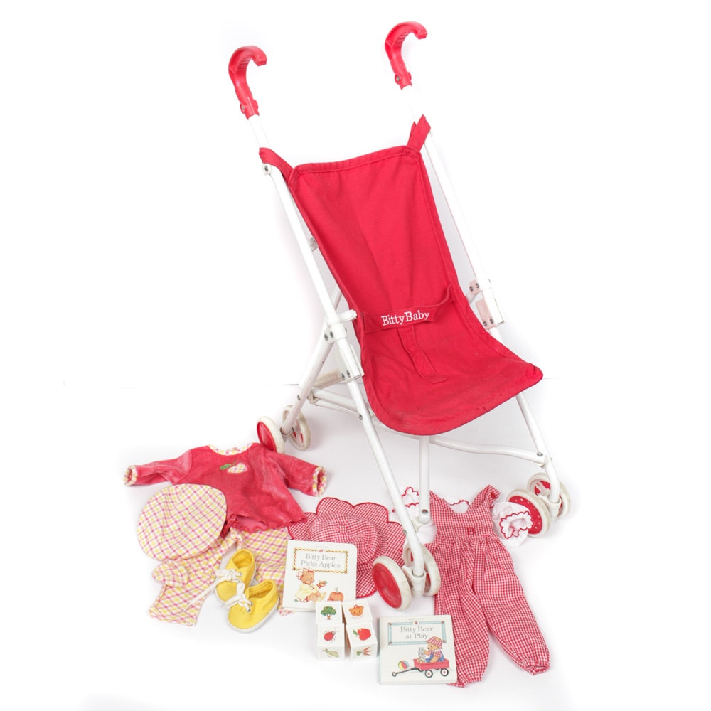 """American Girl """"Bitty Baby"""" Stroller and Clothes"""