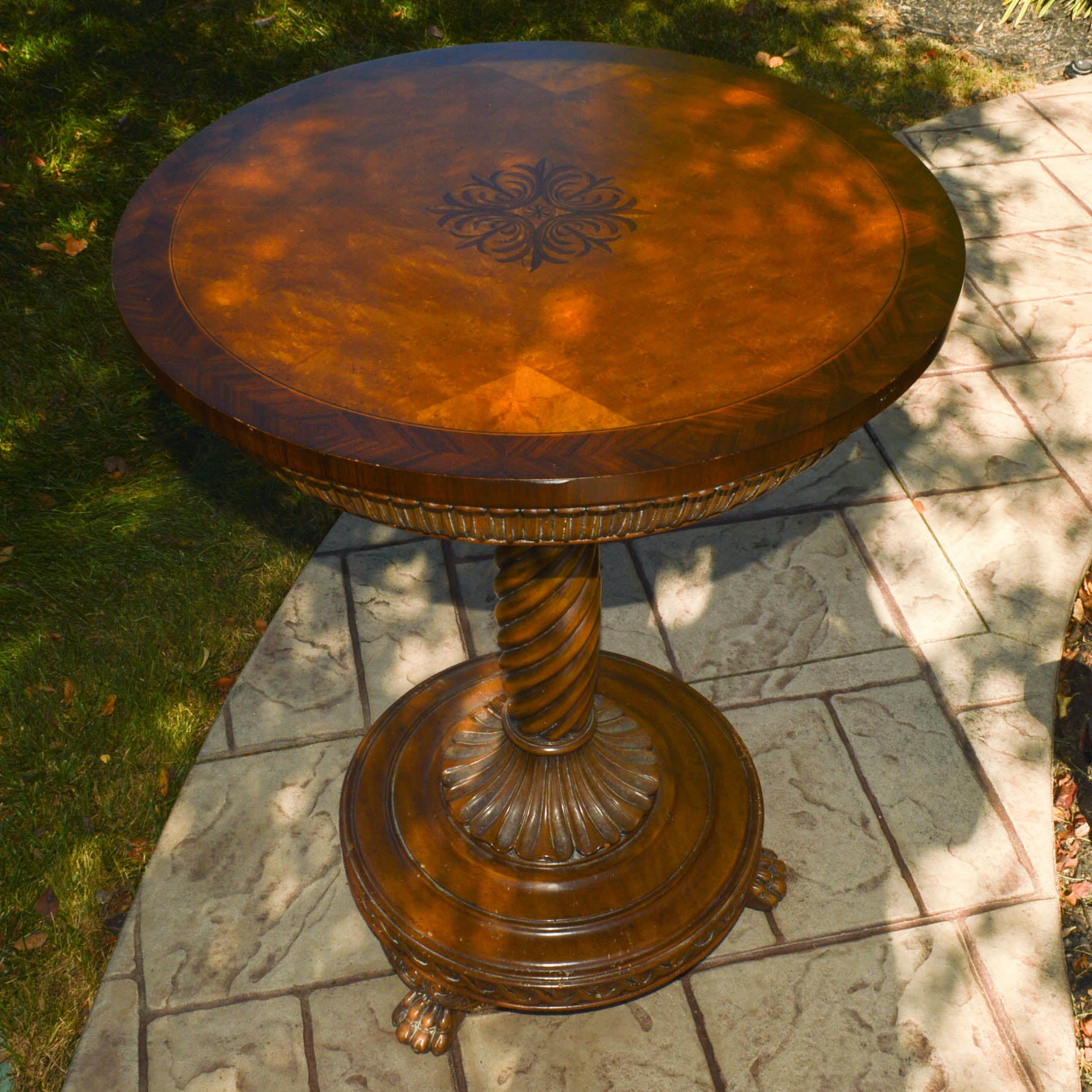 Maitland-Smith Pedestal Accent Table