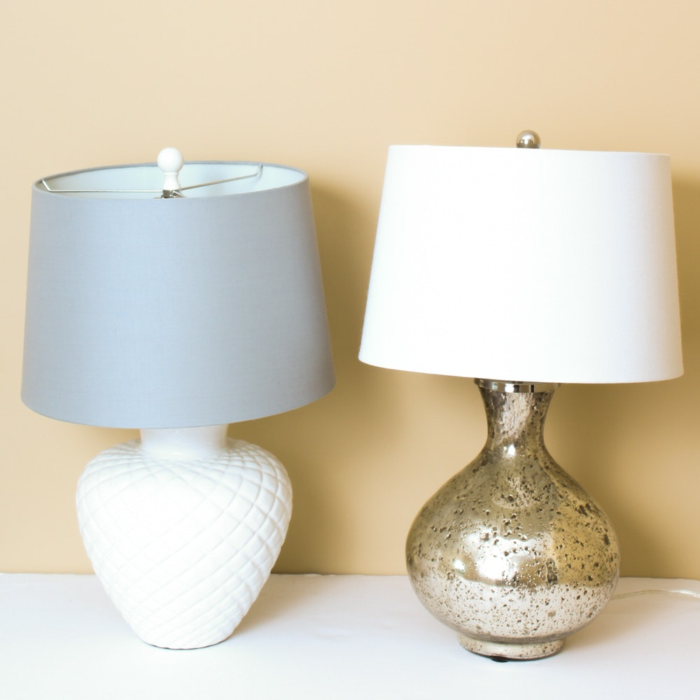 Cottage Style Table Lamp Pair ...