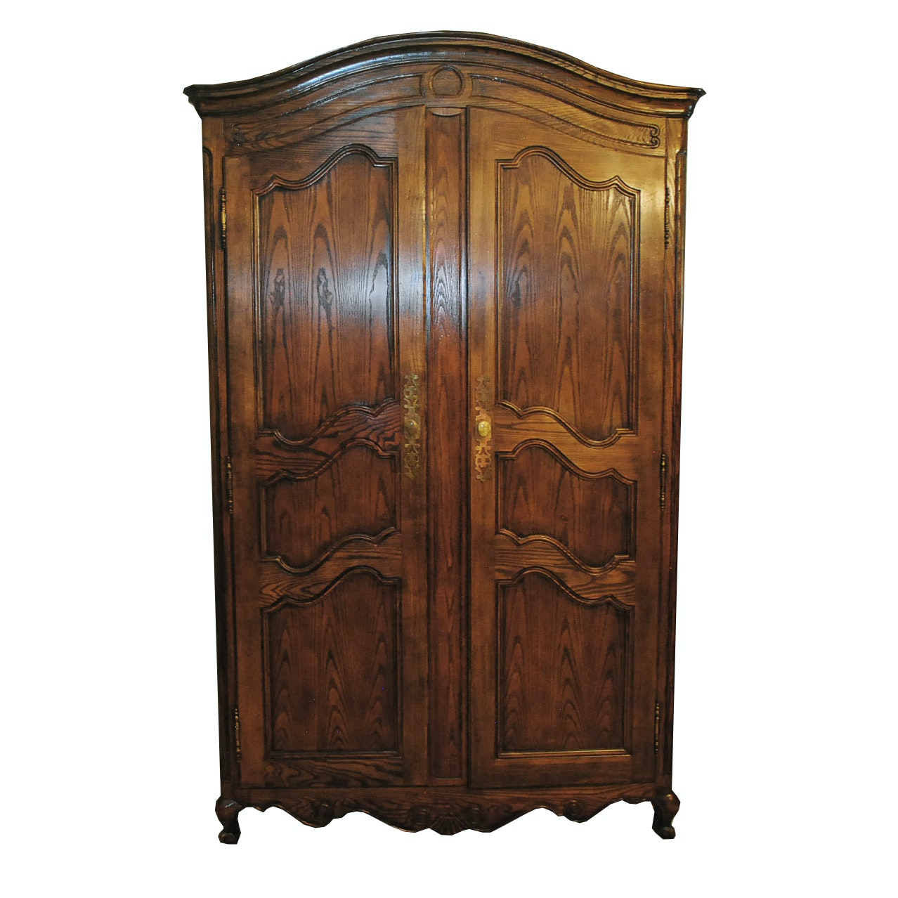 Gentil Vintage Louis XV Style Oak Armoire By Baker Furniture ...