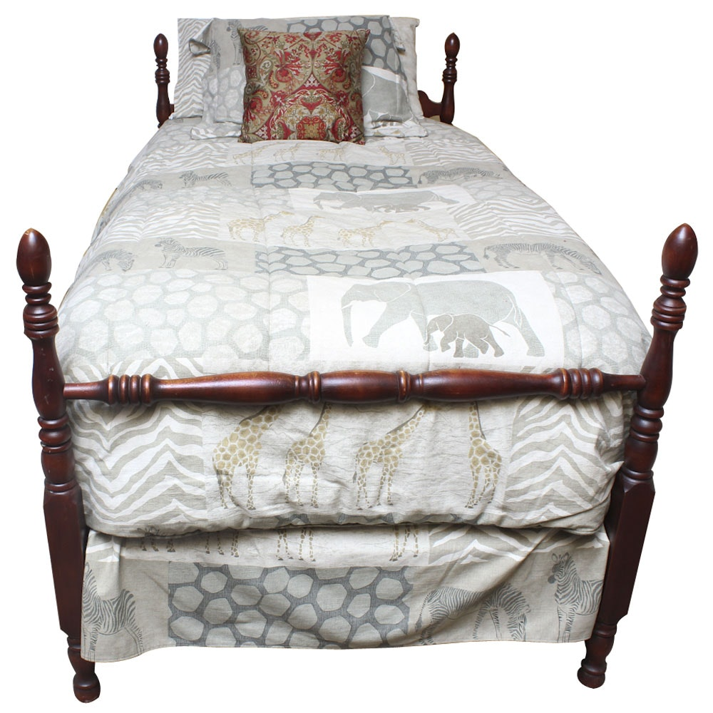 Vintage Cherry Four-Poster Bed