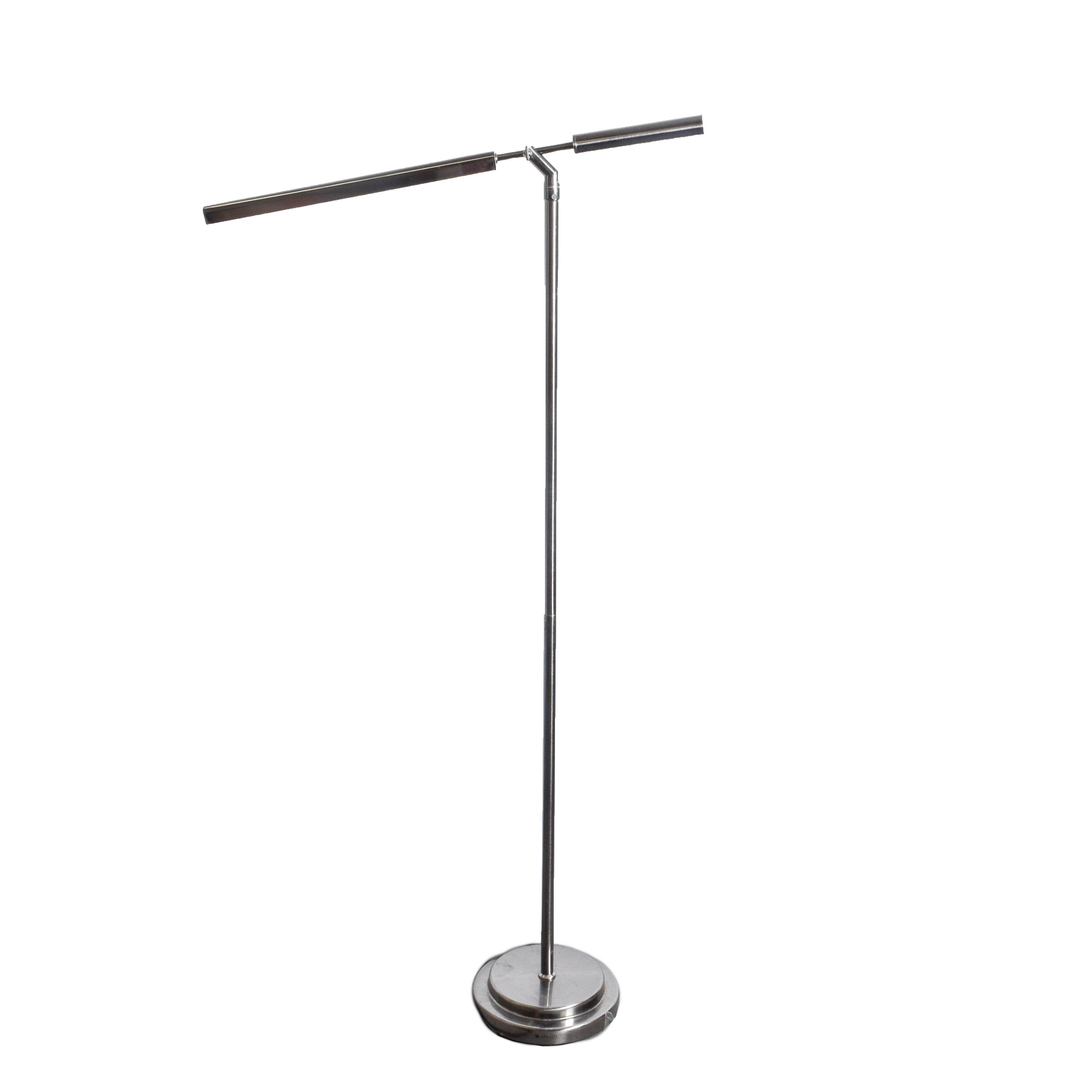 Modern Chrome Floor Lamp by Ott-Lite