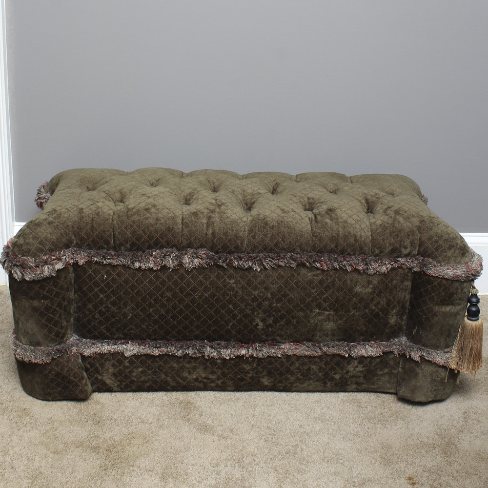 Upholstered and Button Tufted Bench