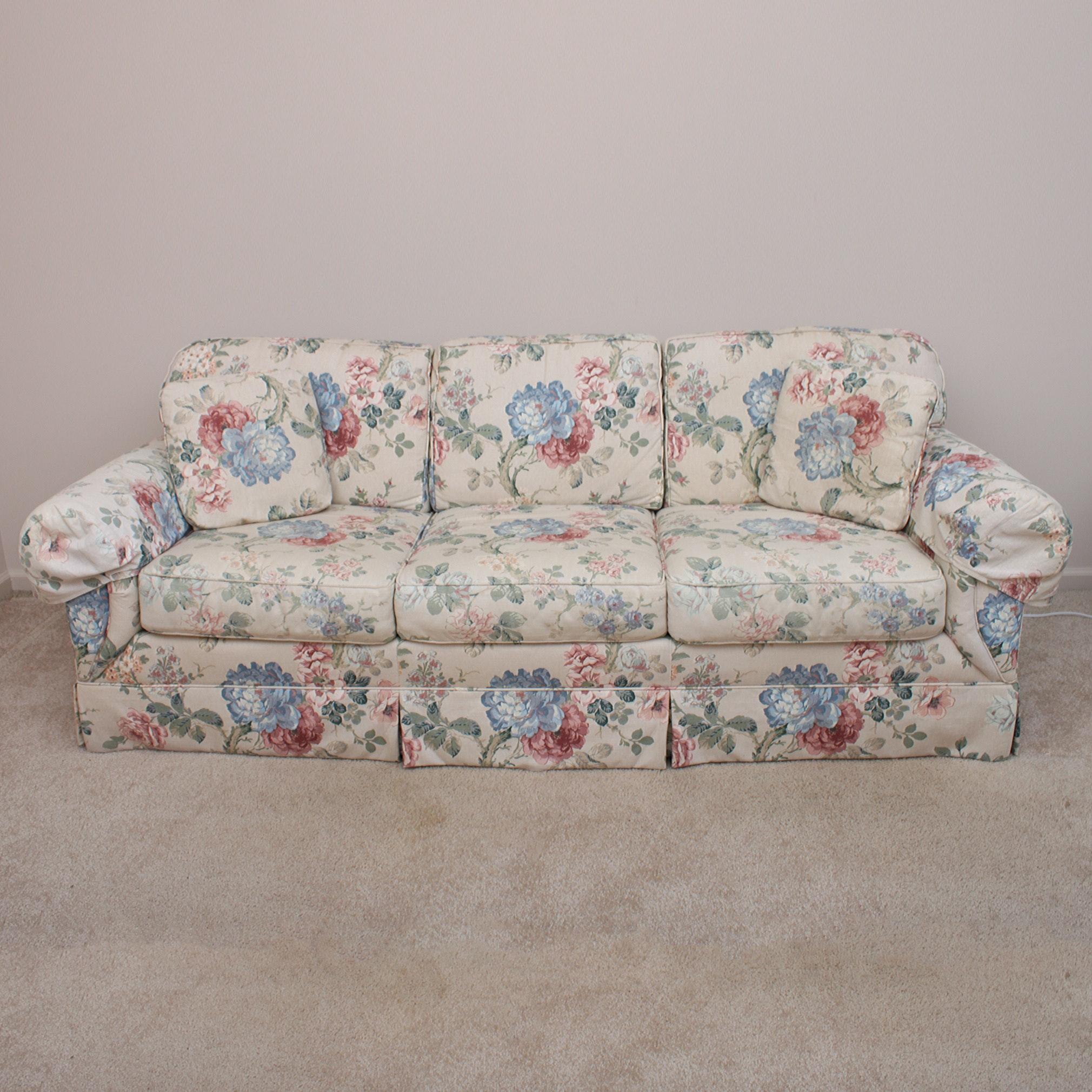 Drexel Floral Sofa