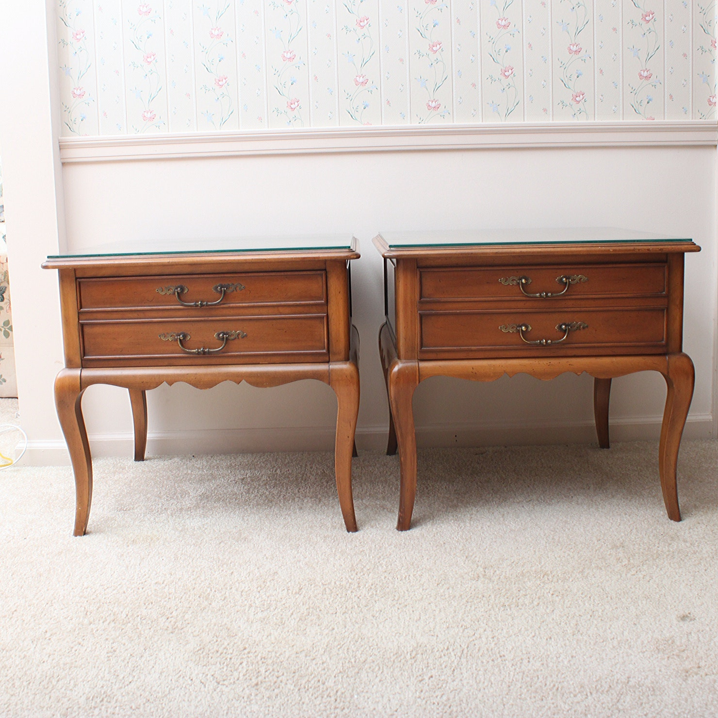 Hekman French Provincial Style End Tables