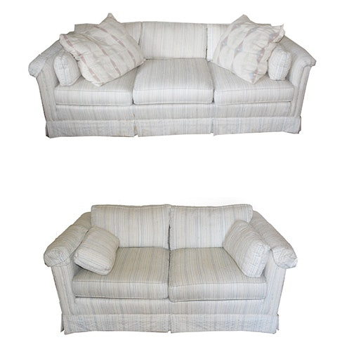 Vintage Drexel Heritage Matching Sofa And Loveseat ...