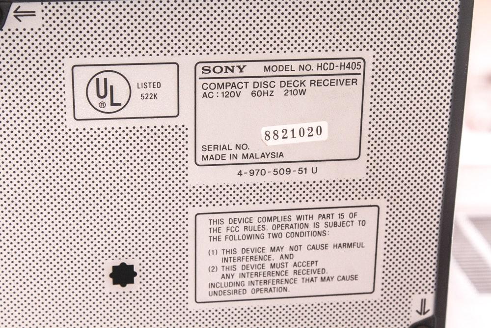 Vintage Pioneer Receiver Sharp Cassette Deck Sony