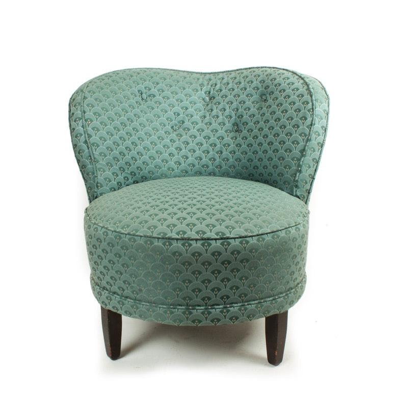 upholstered barrel back vanity stool