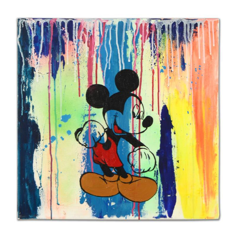 """Mickey Mouse"" Mixed Media"
