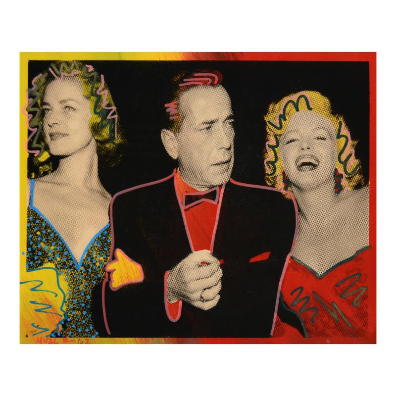"""Marilyn, Bogart, and Bacall"" Mixed Media"