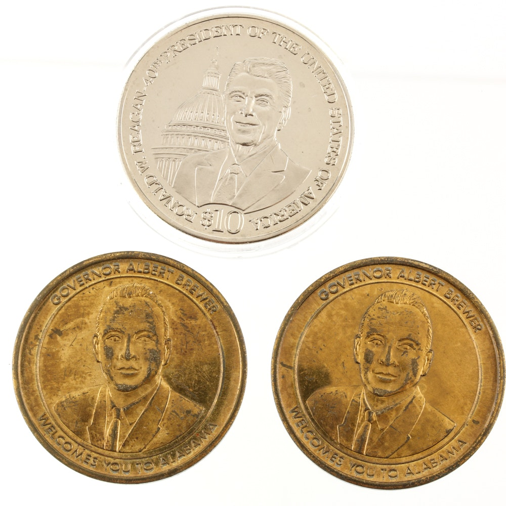 Three Commemorative Coins