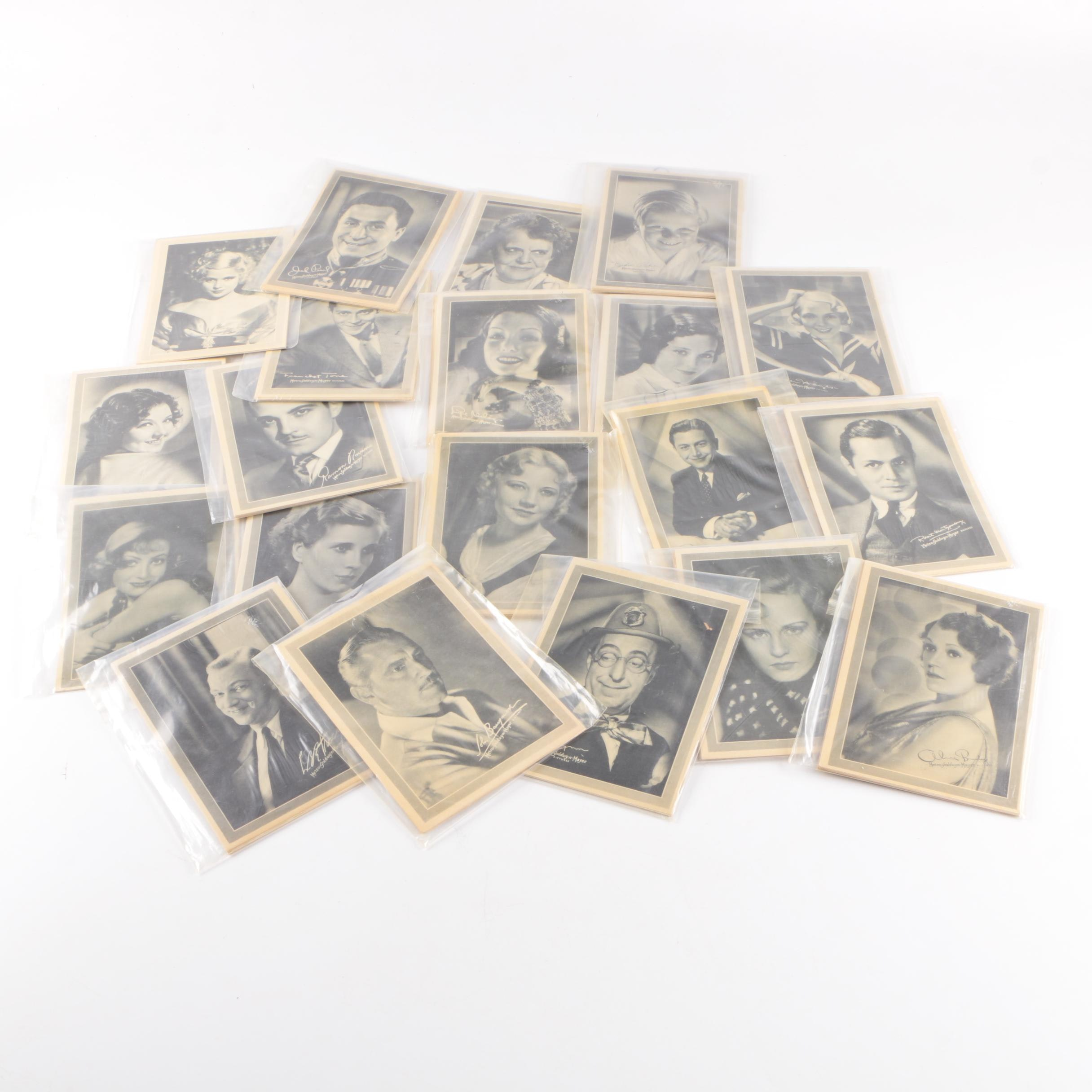 1933 Lux Toilet Soap Movie Star Portraits Including Joan Crawford and Lupe Vélez