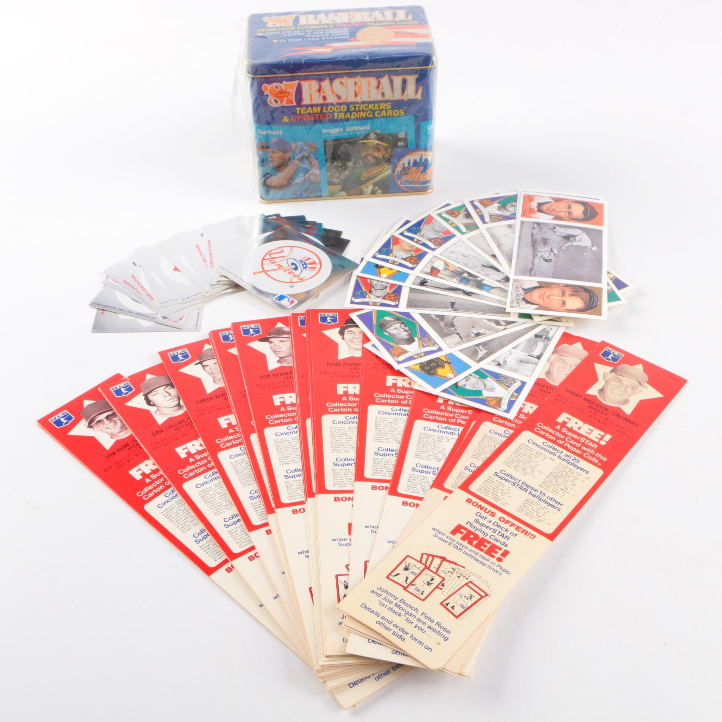 Baseball Card and Sticker Collection
