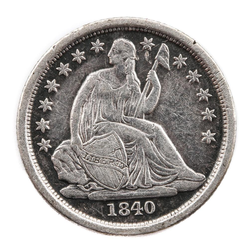 1840 O Liberty Seated Silver Dime