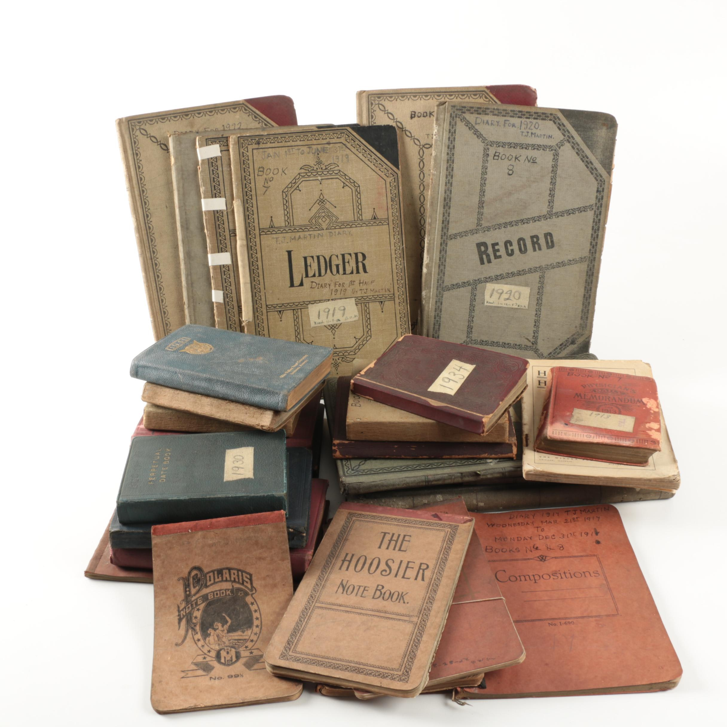 Early Twentieth Century Personal Diaries and Ledgers