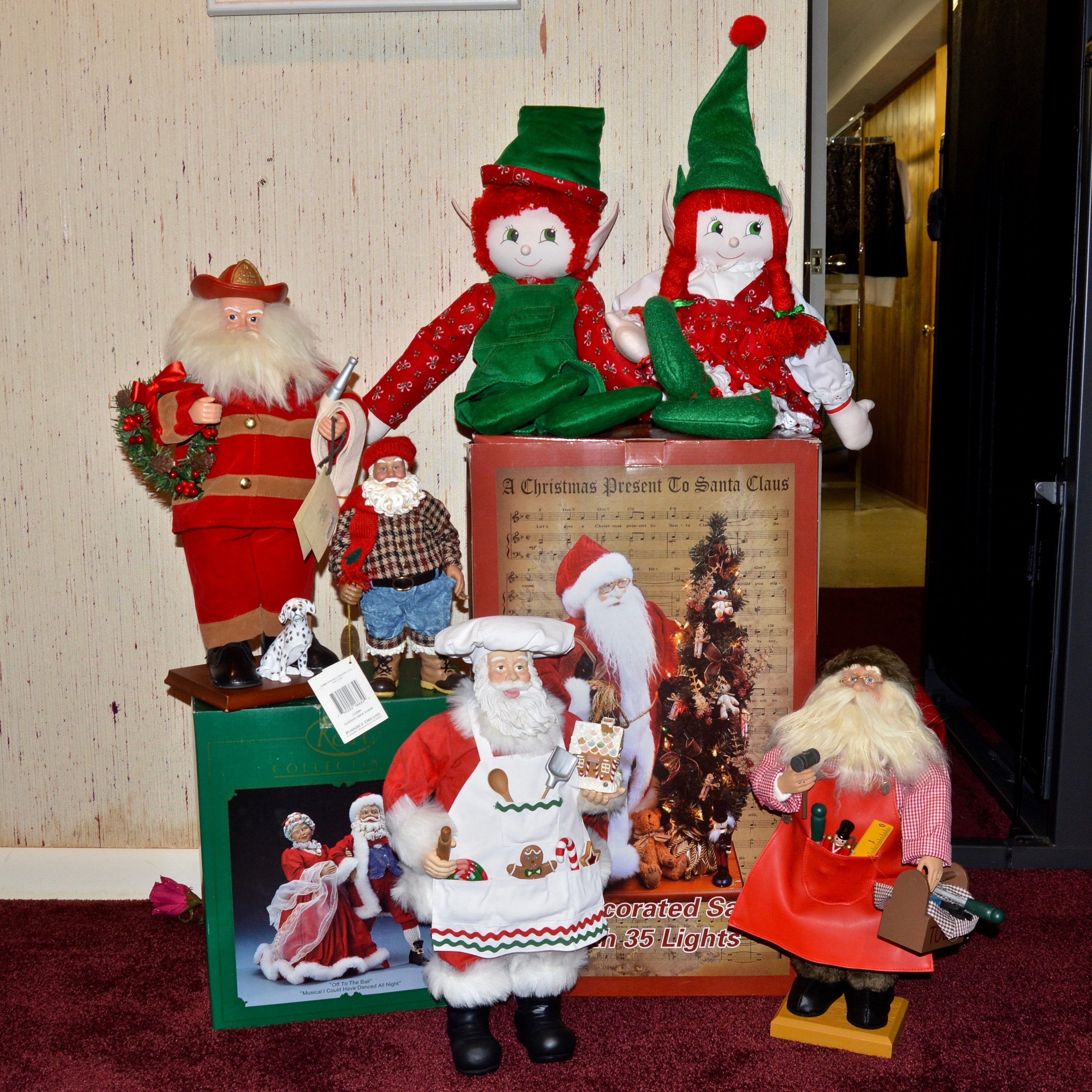 Holiday Santa Figurines and Decor