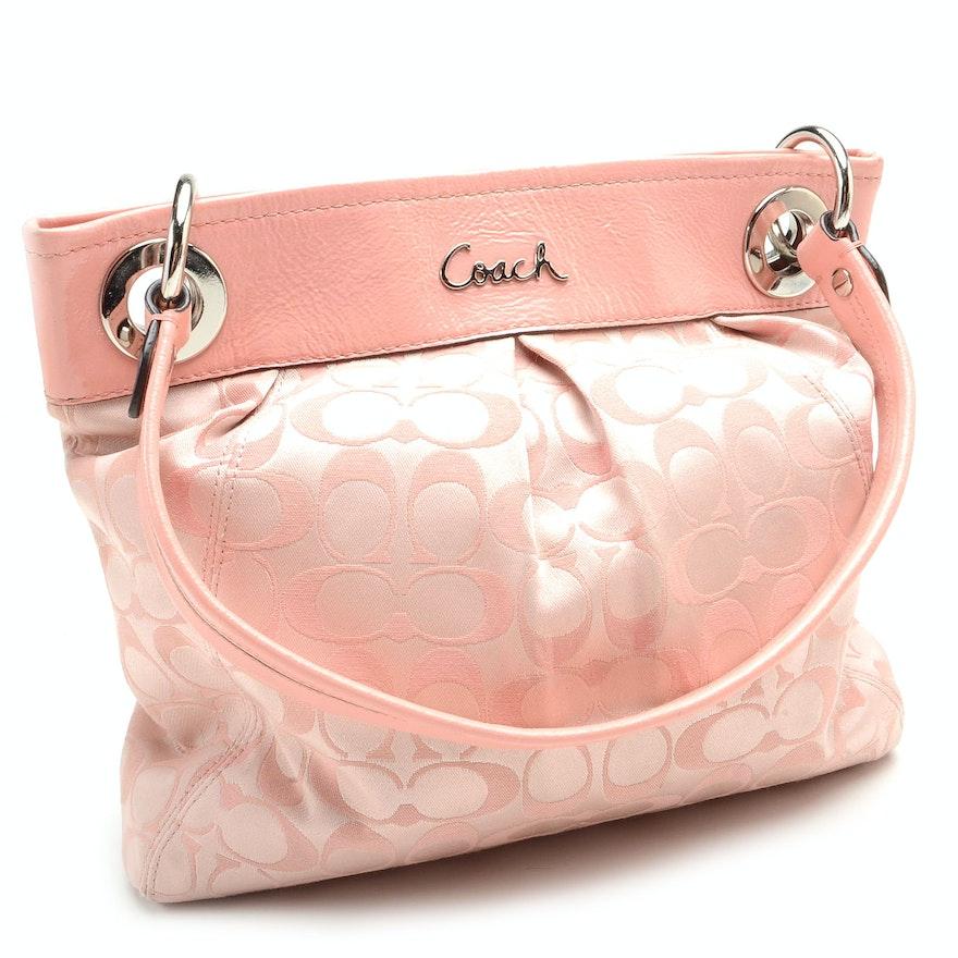 c7725ace66 Coach Ashley Collection Pink Signature Hippie Shoulder Bag   EBTH