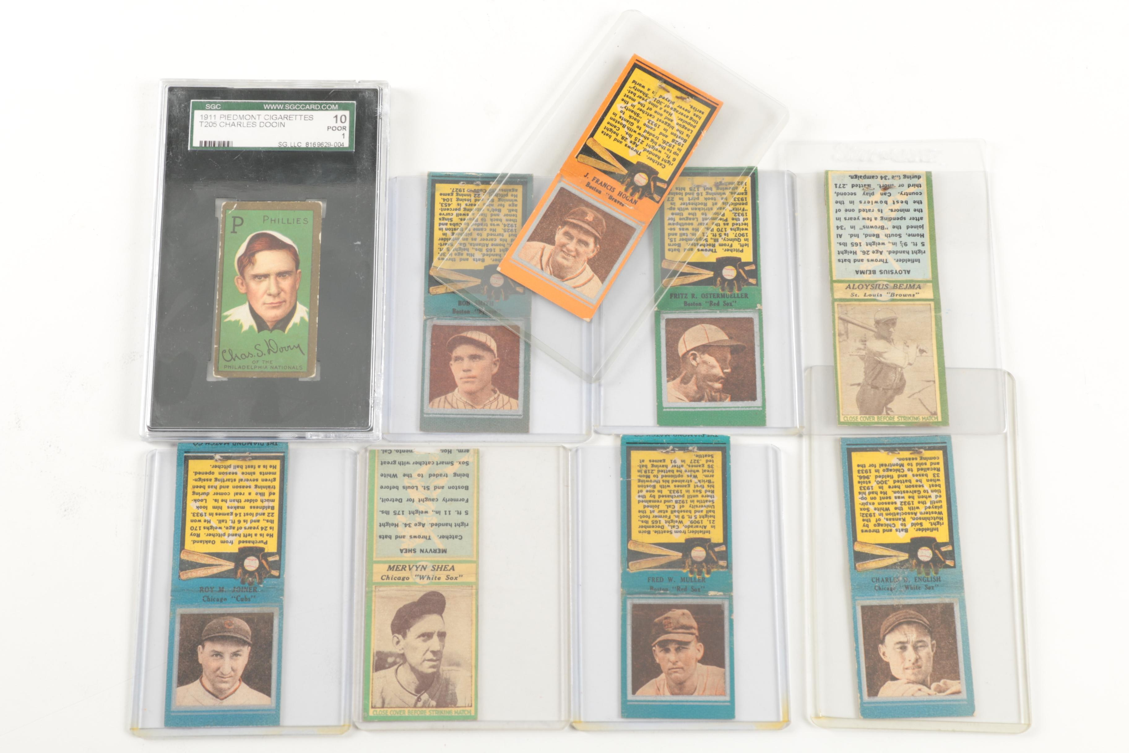 Baseball Matchboxes and 1911 Piedmont Baseball Card